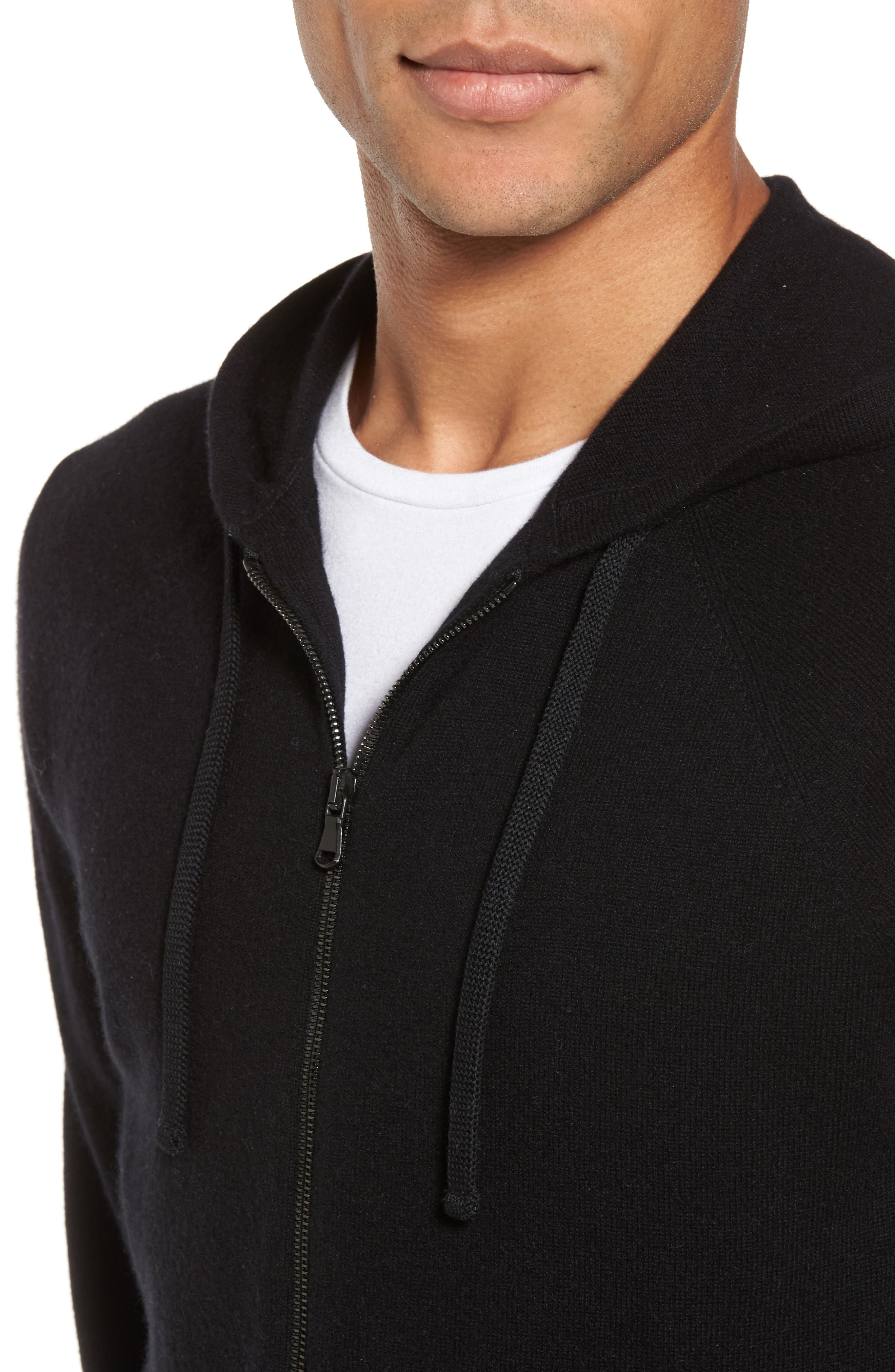 Classic Fit Cashmere Hooded Track Jacket,                             Alternate thumbnail 7, color,