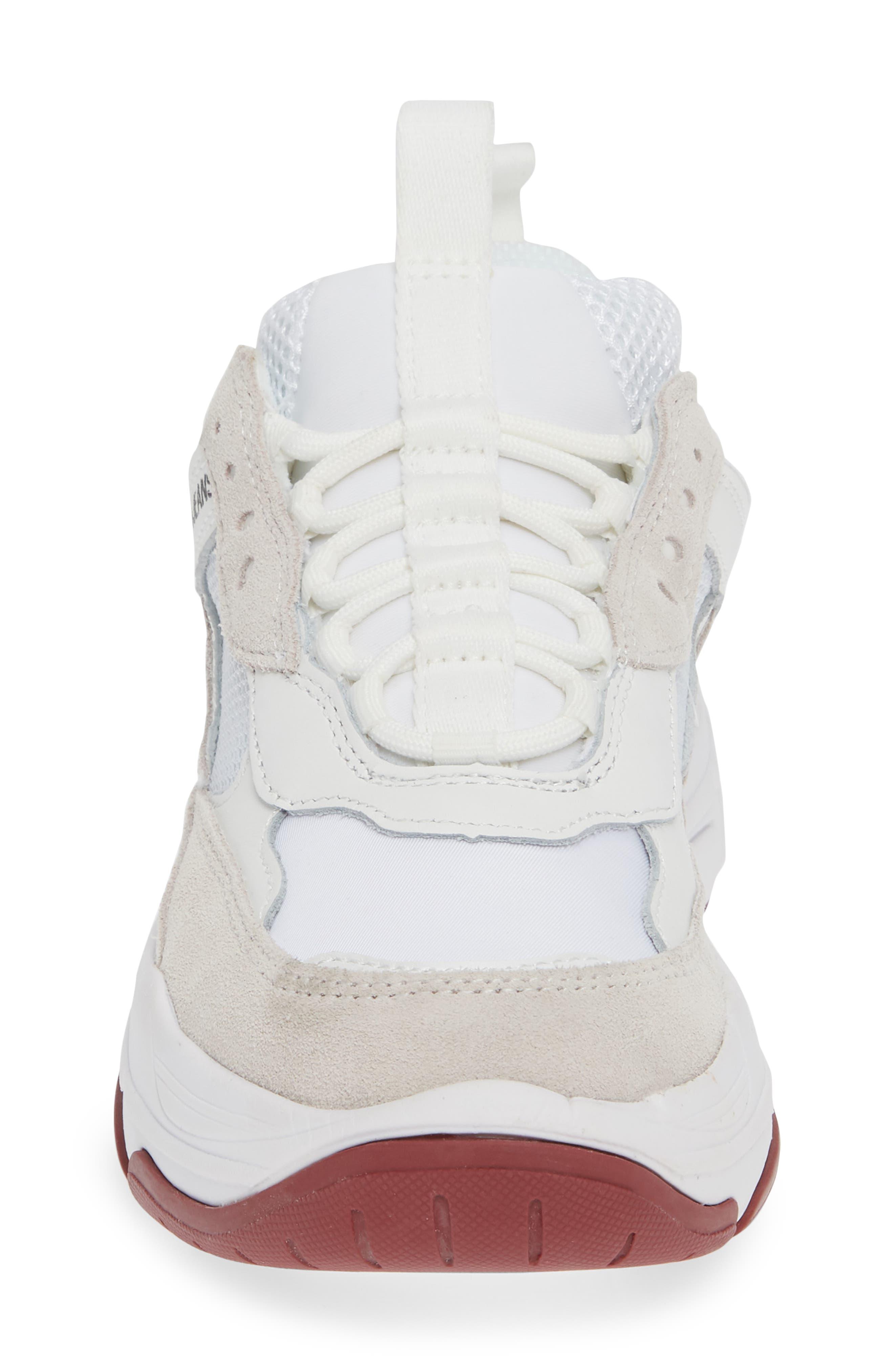 Maya Sneaker,                             Alternate thumbnail 4, color,                             WHITE FABRIC