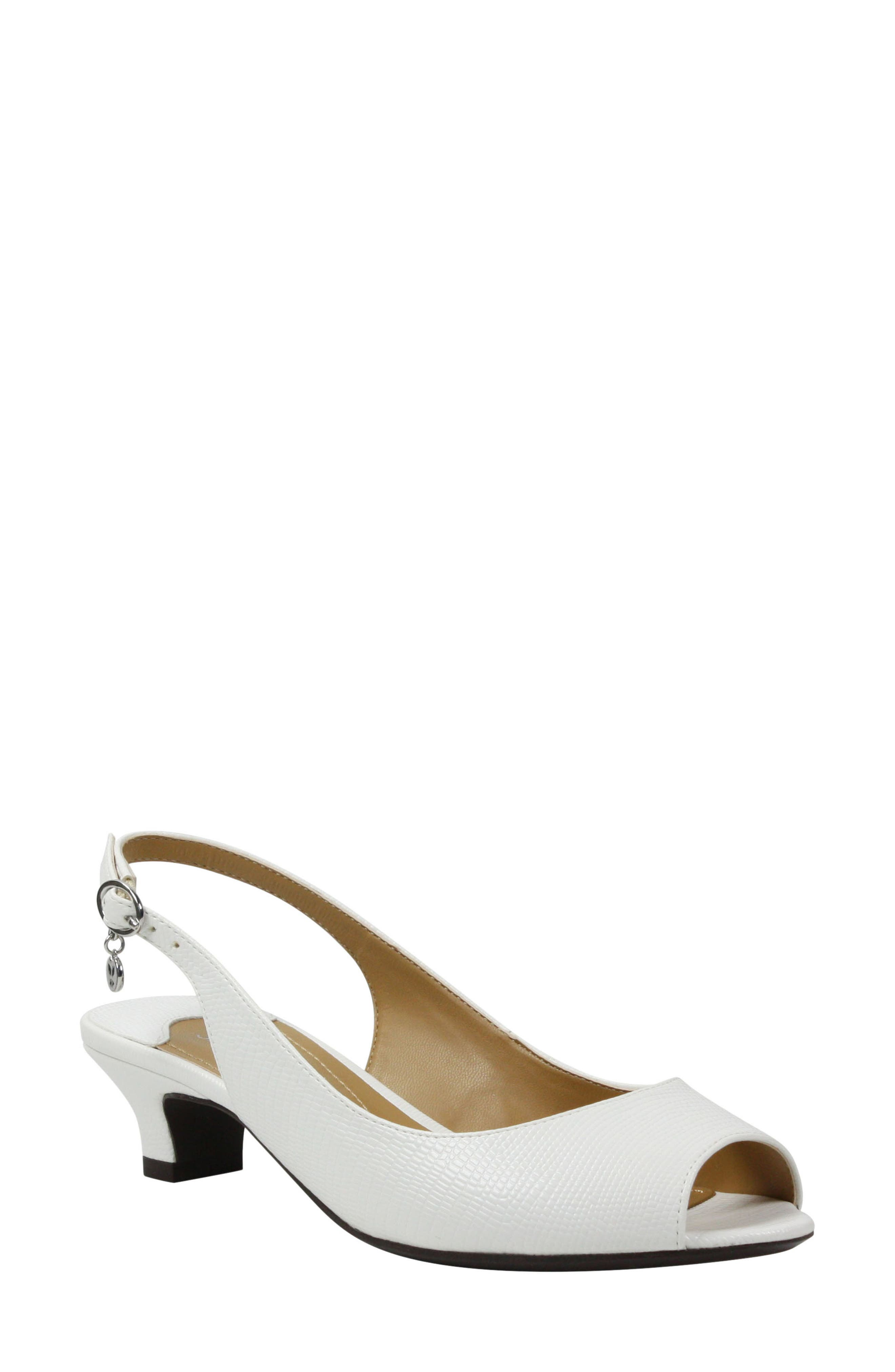 Jenvey Slingback Sandal, Main, color, WHITE LIZARD PRINT