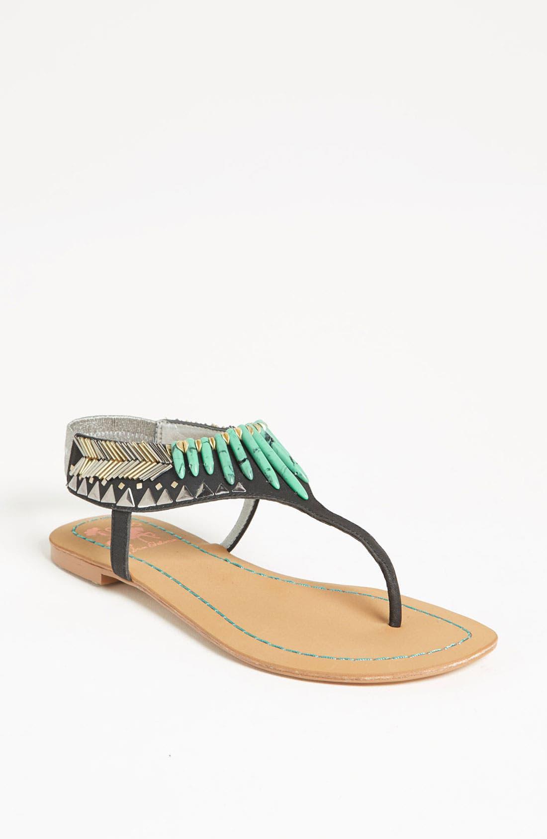 'Brina' Sandal,                             Main thumbnail 1, color,                             001