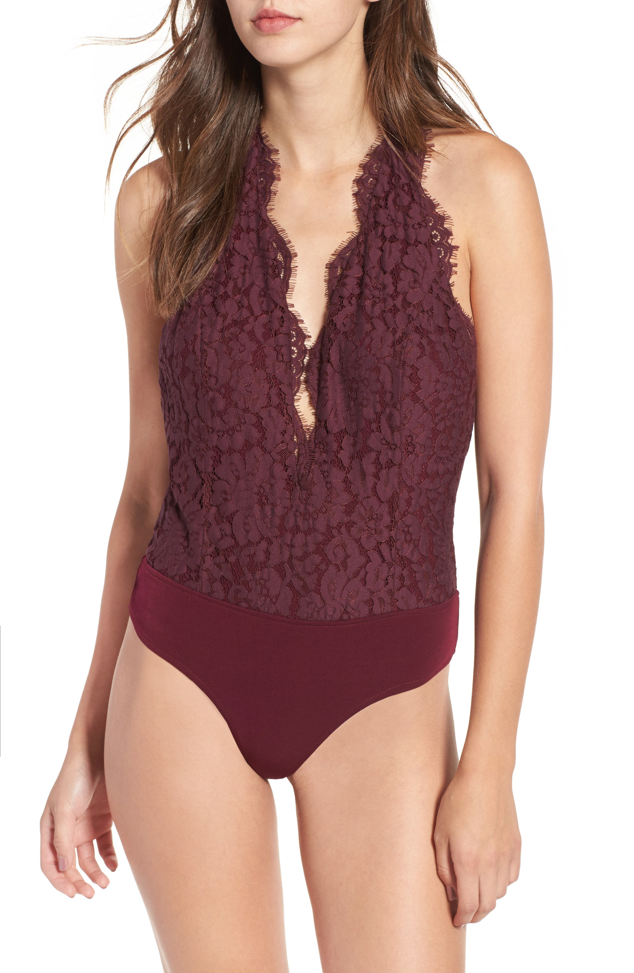 Rosalyn Lace Thong Bodysuit,                             Alternate thumbnail 2, color,                             938