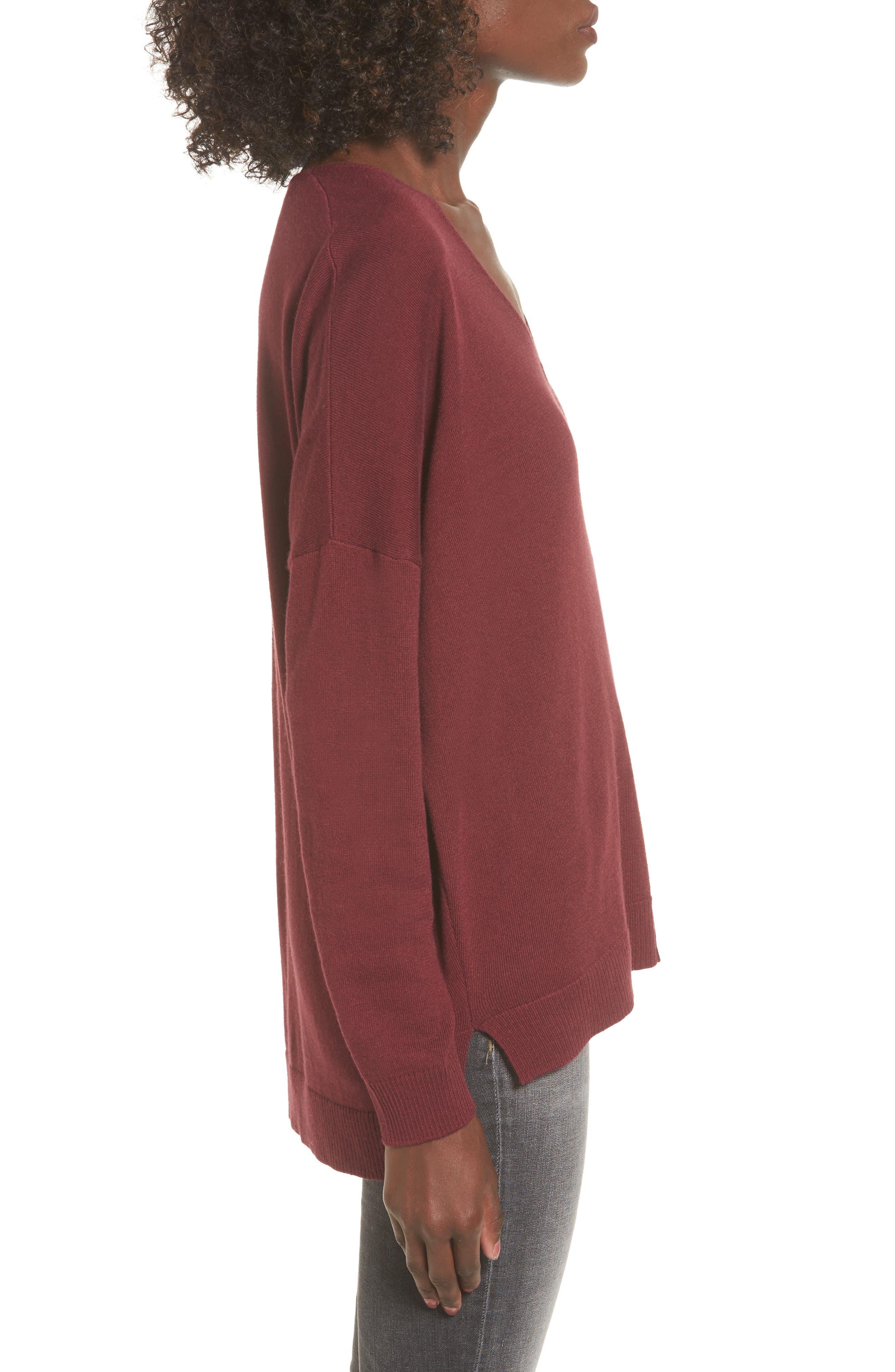V-Neck Sweater,                             Alternate thumbnail 3, color,                             601