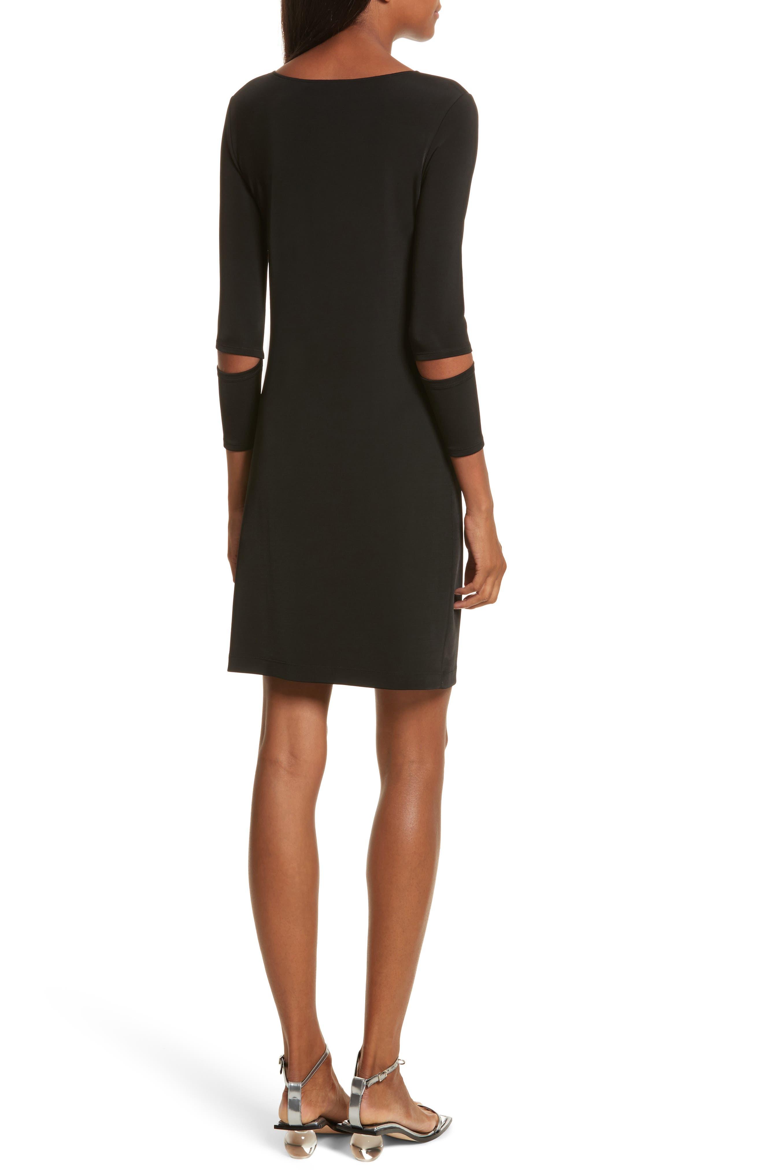 Detached Cuff Bondage Jersey Dress,                             Alternate thumbnail 2, color,                             001