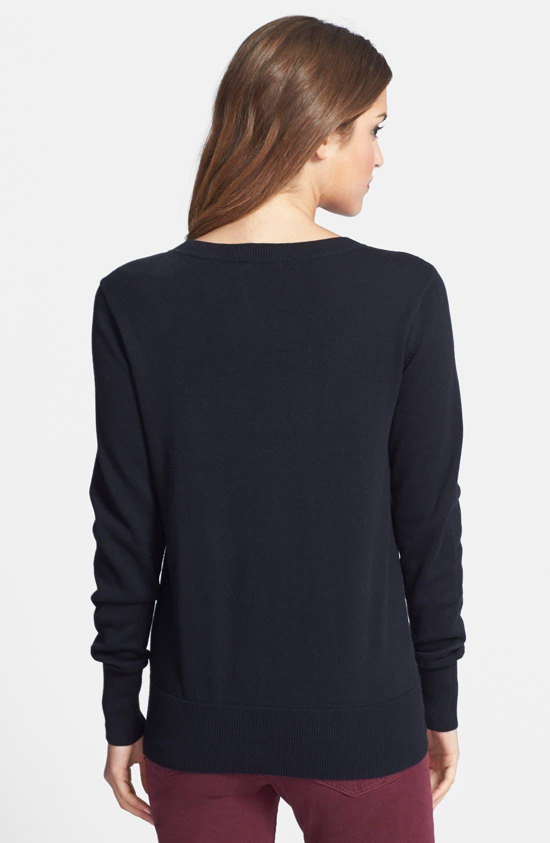 Intarsia Sweater,                             Alternate thumbnail 2, color,                             001