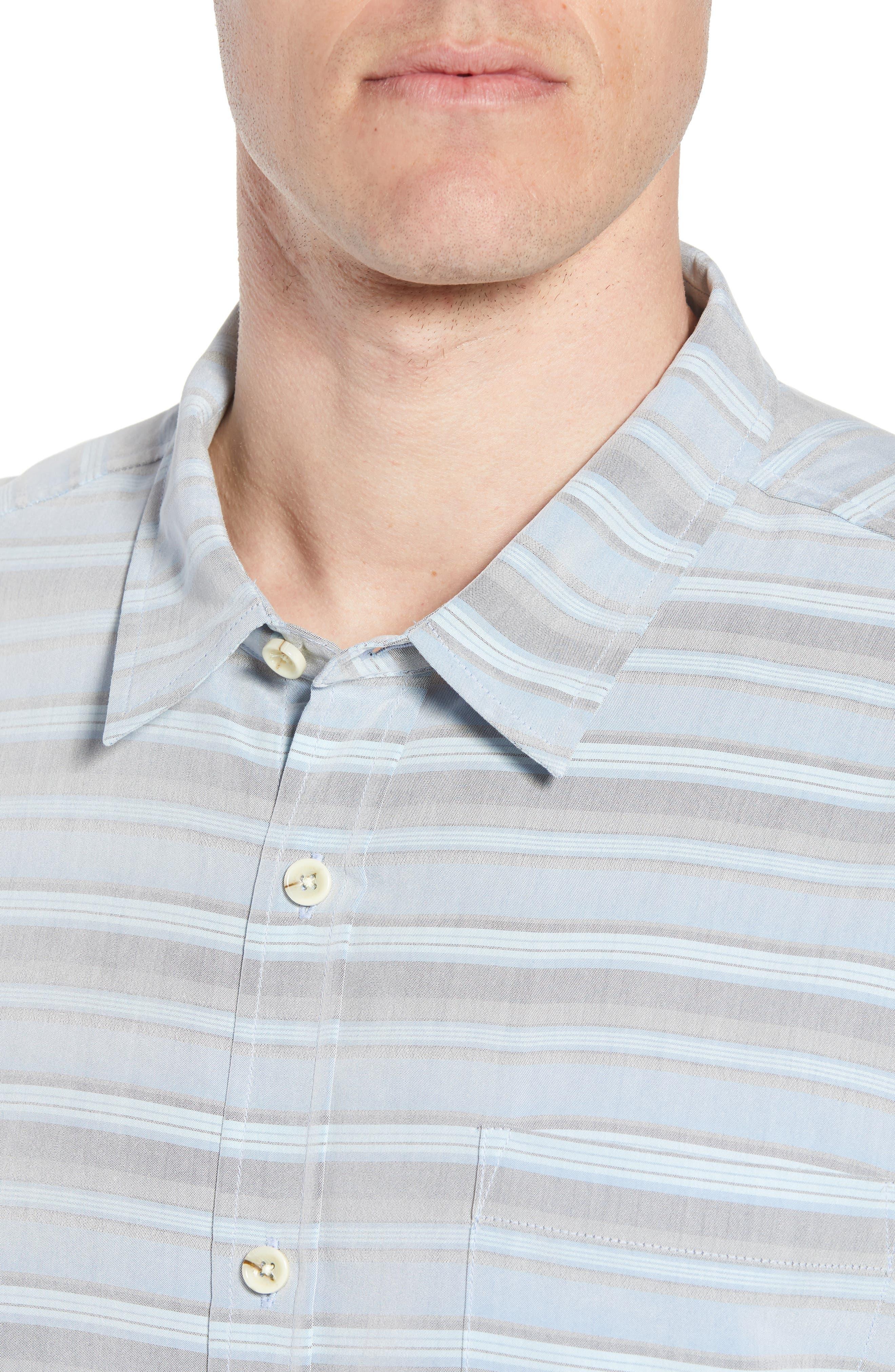 Tubes Regular Fit Short Sleeve Sport Shirt,                             Alternate thumbnail 4, color,                             COBALT