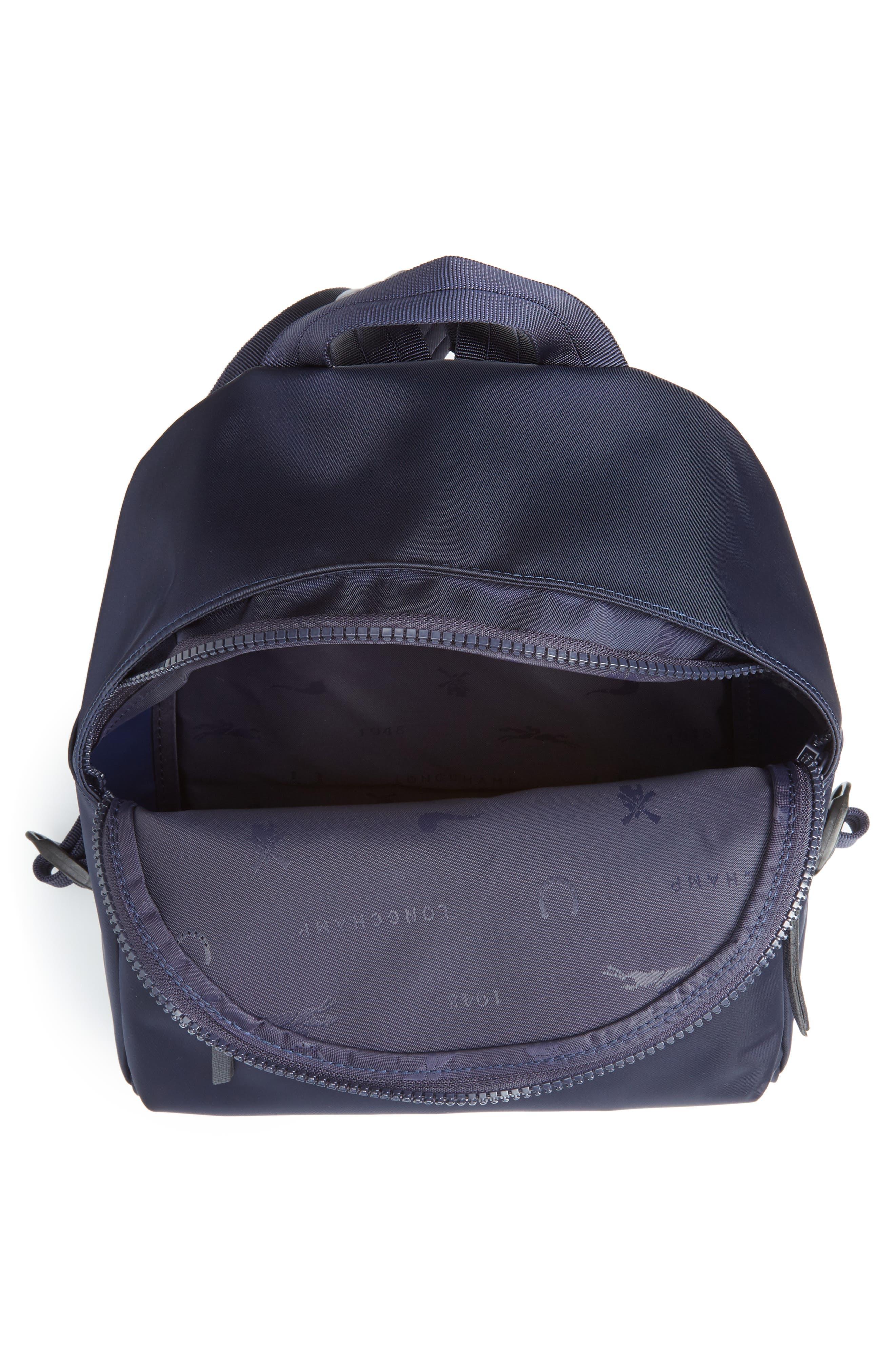 'Small Le Pliage Neo' Nylon Backpack,                             Alternate thumbnail 4, color,                             NAVY BLUE