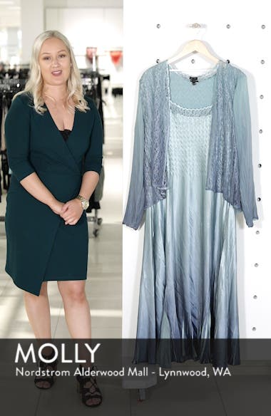 Lace & Charmeuse A-Lined Dress with Jacket, sales video thumbnail