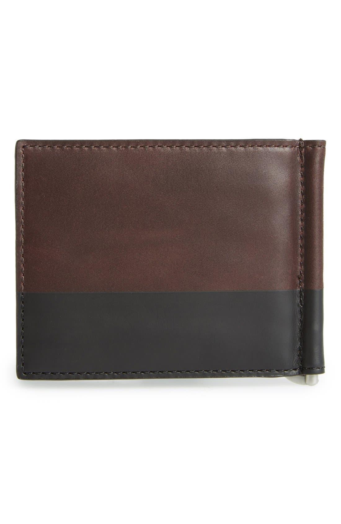 JACK SPADE,                             Leather Money Clip Wallet,                             Alternate thumbnail 3, color,                             203