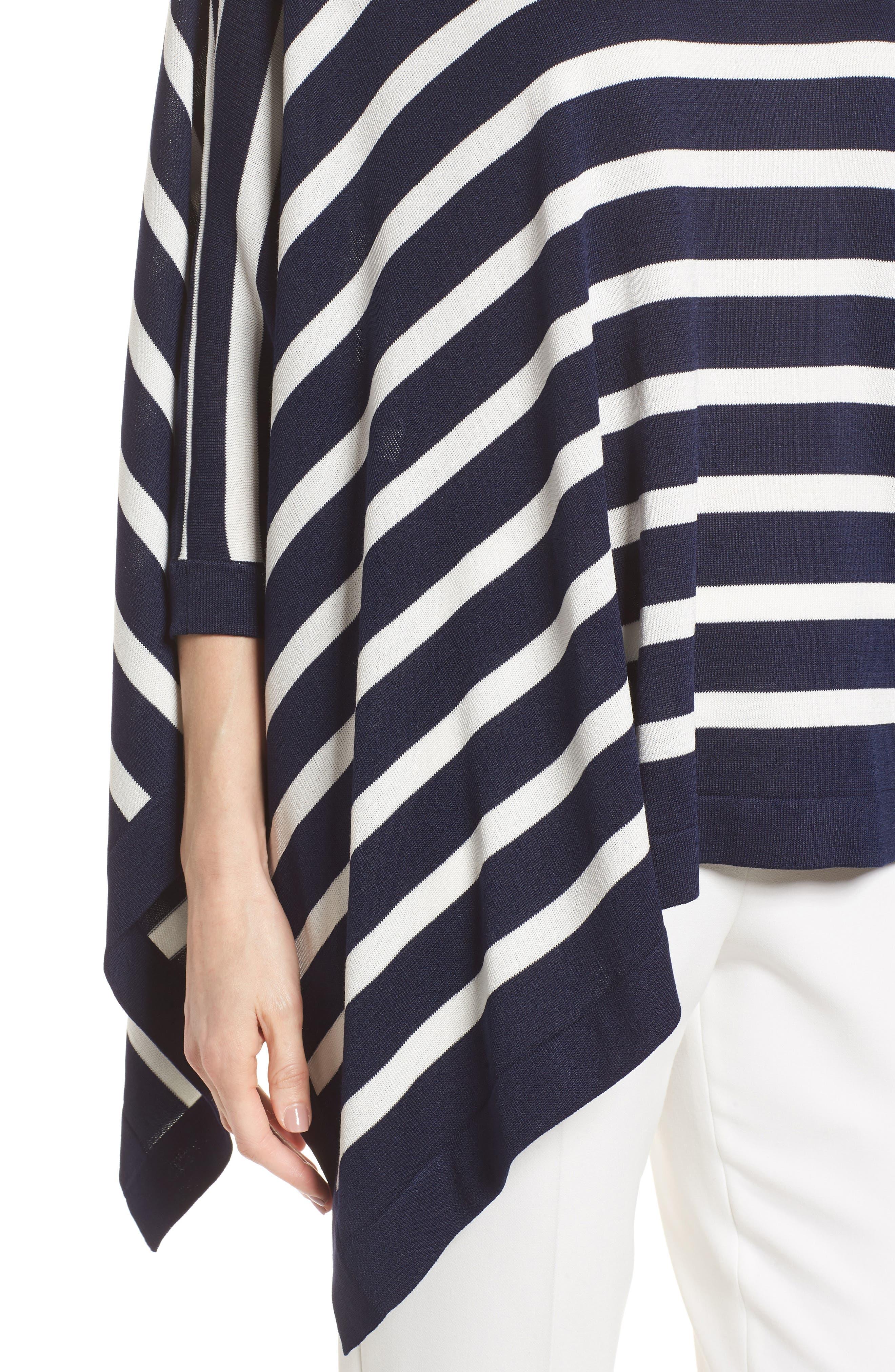 Asymmetrical Striped Sweater,                             Alternate thumbnail 9, color,