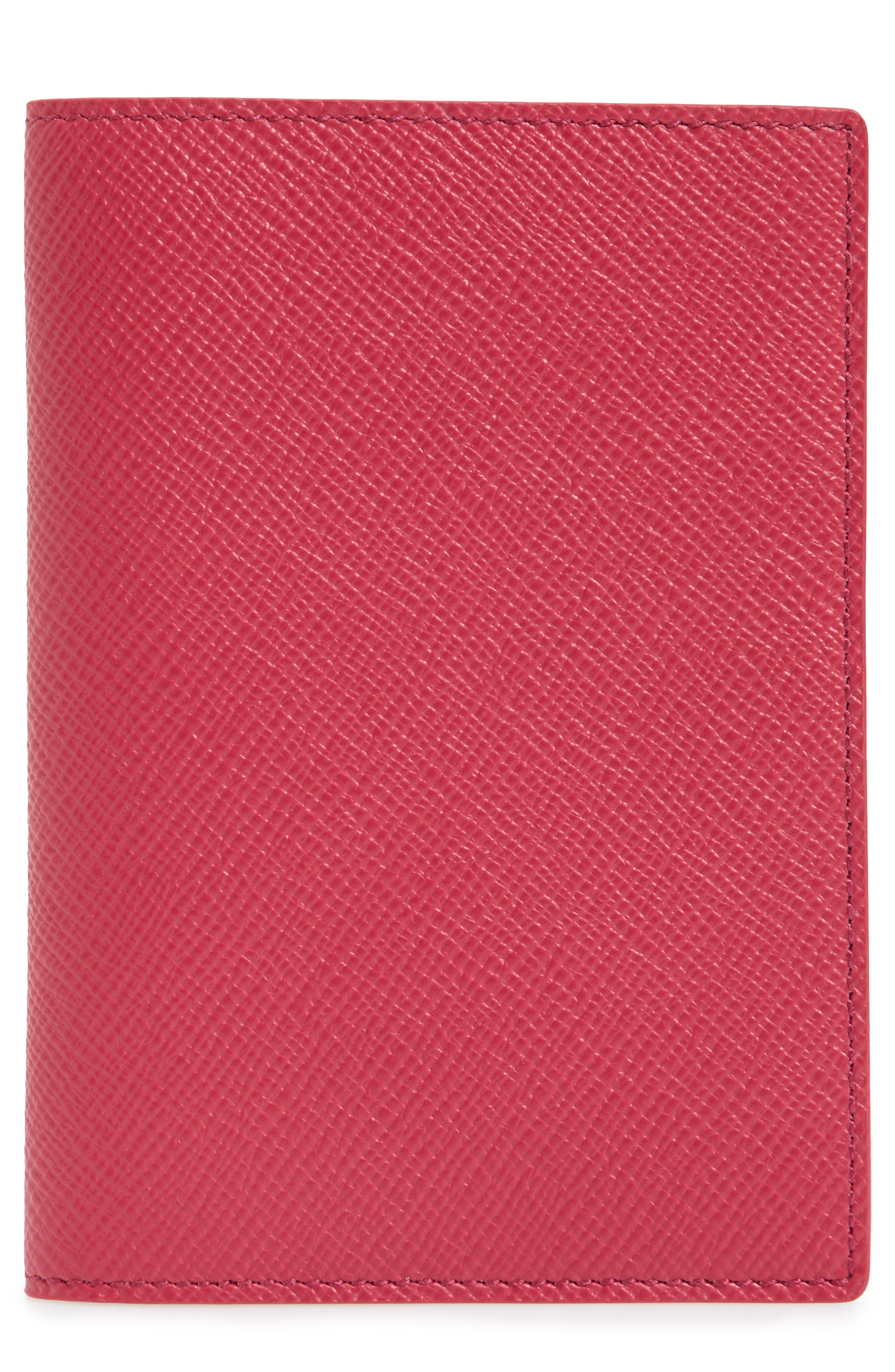Panama Calfskin Leather Passport Holder,                             Main thumbnail 1, color,                             650
