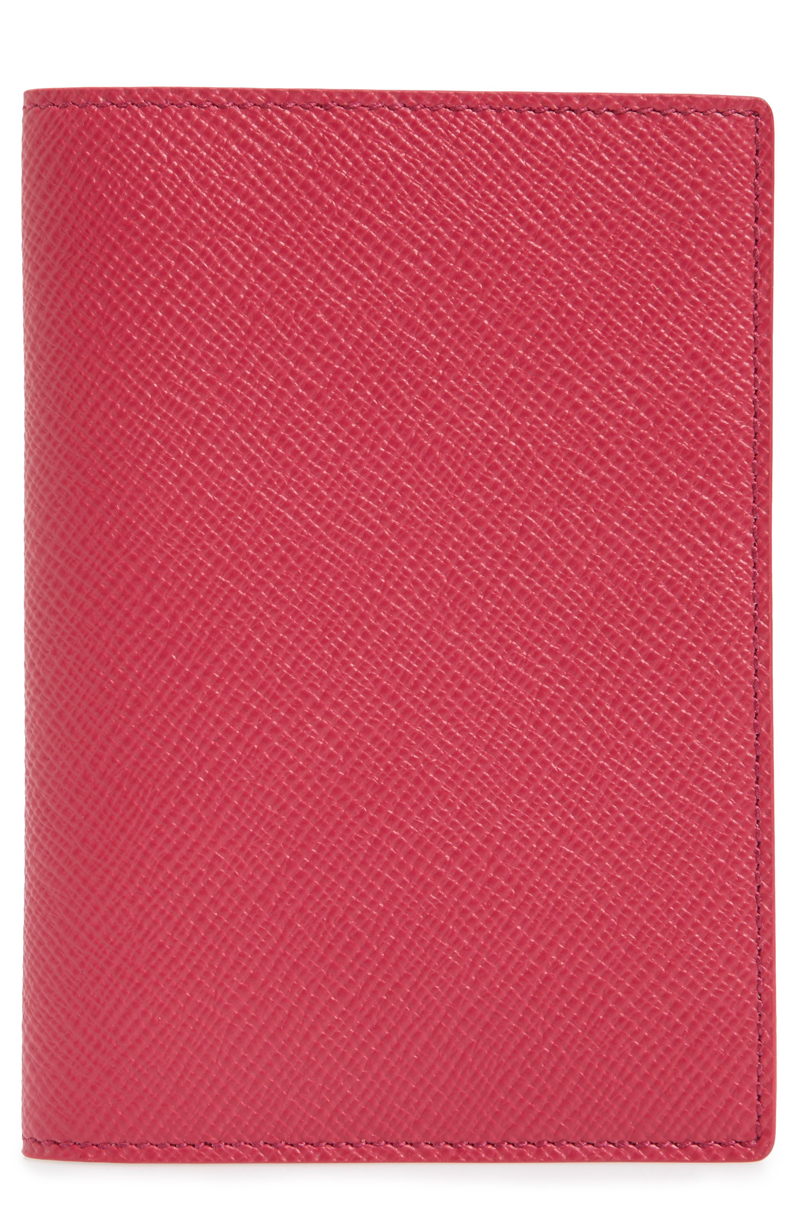 Panama Calfskin Leather Passport Holder, Main, color, 650