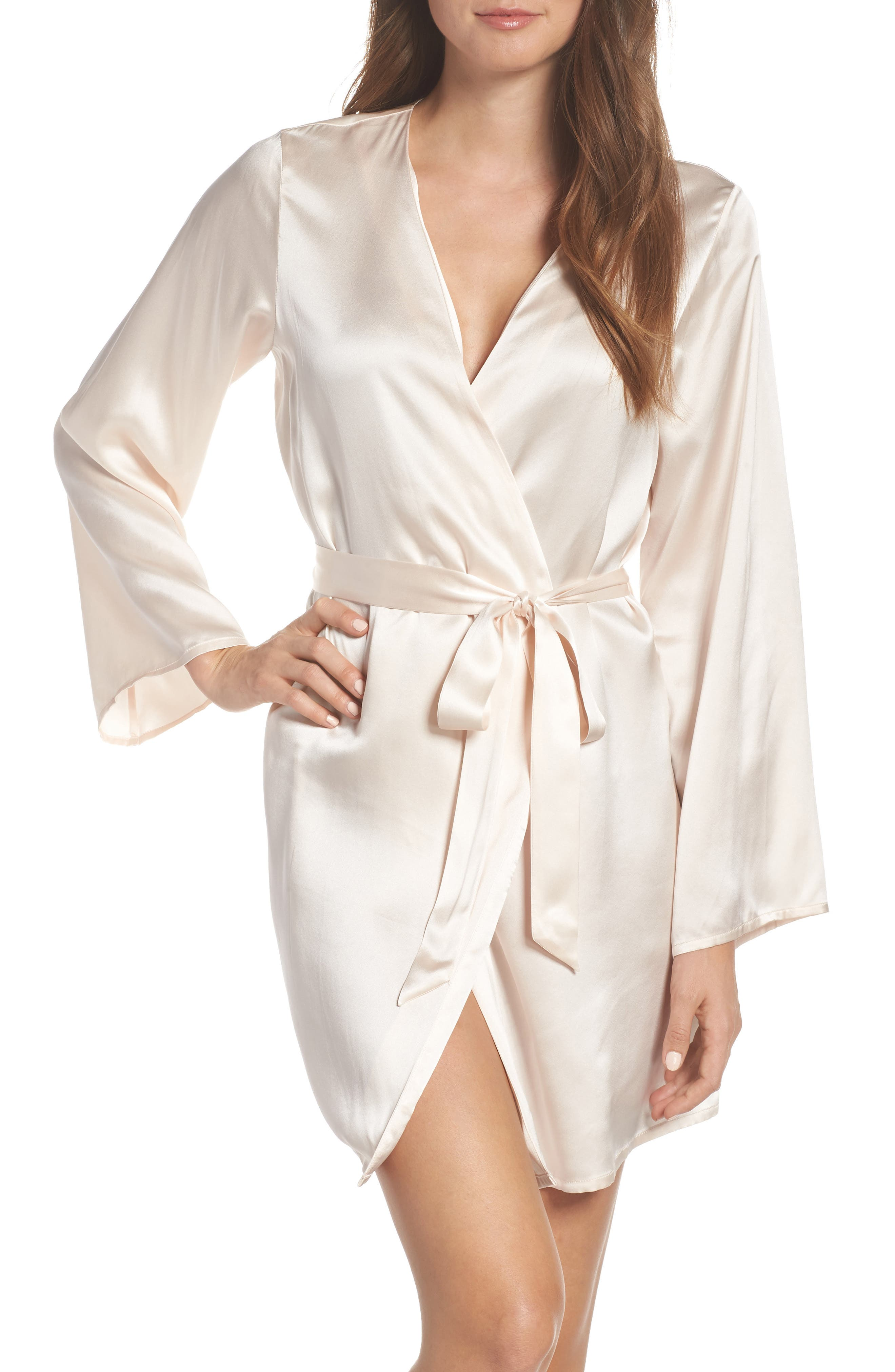 Silk Robe, Main, color, VANILLA