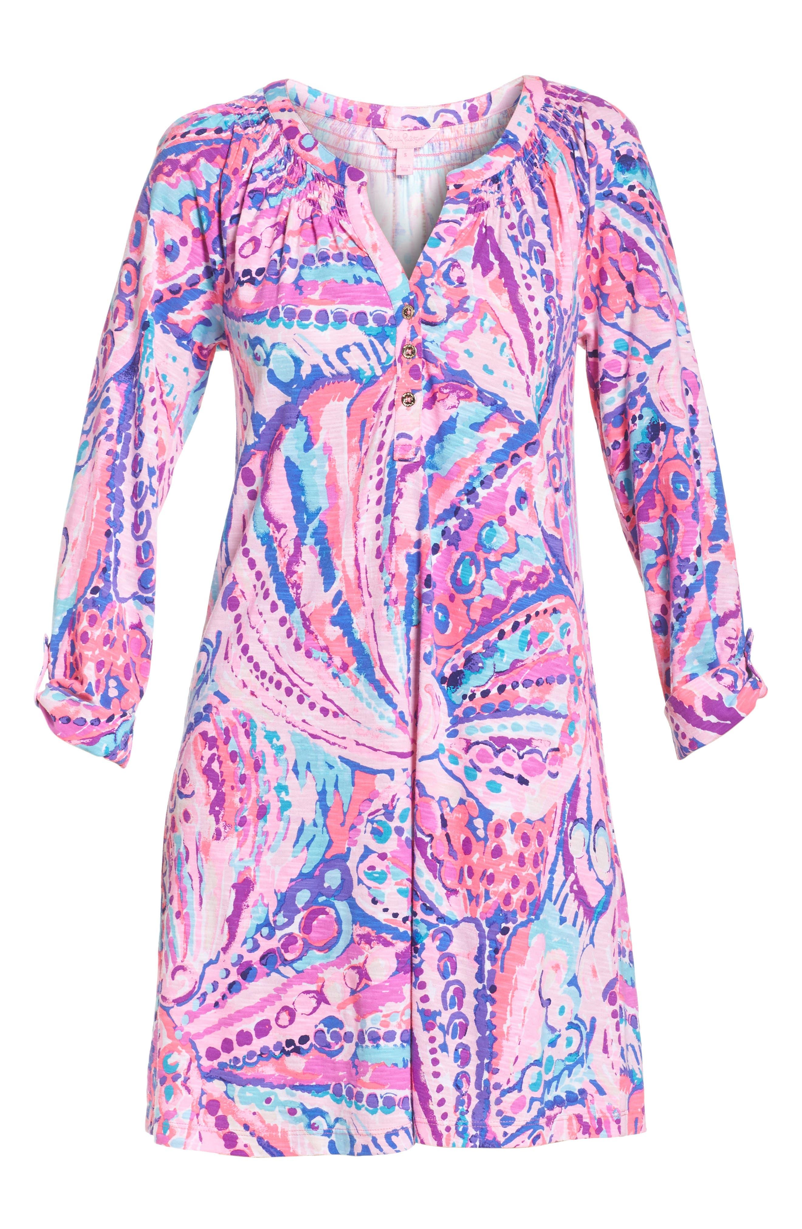 Essie Roll Sleeve Shift Dress,                             Alternate thumbnail 6, color,                             550