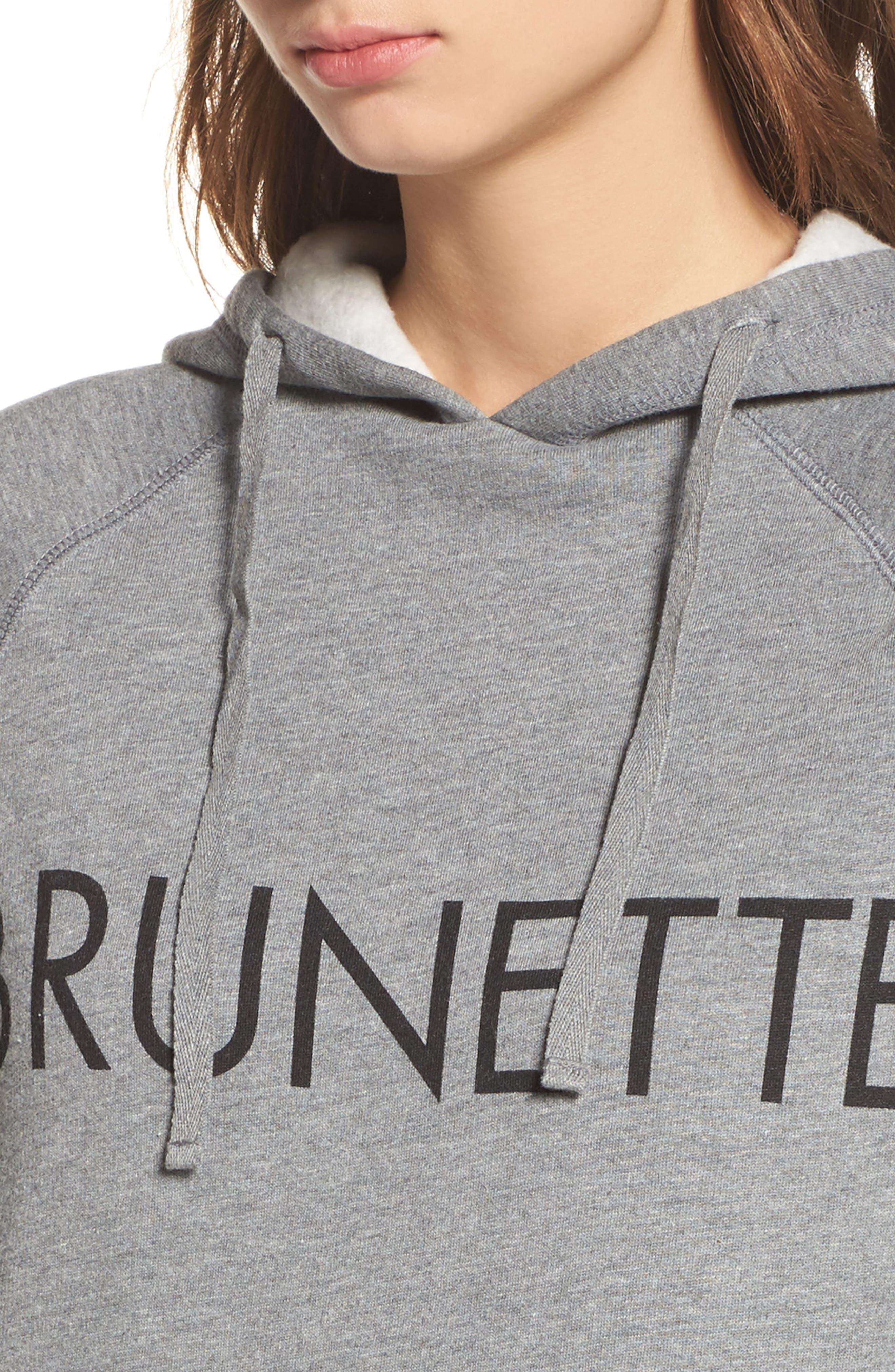 Brunette Sweatshirt Dress,                             Alternate thumbnail 4, color,                             020