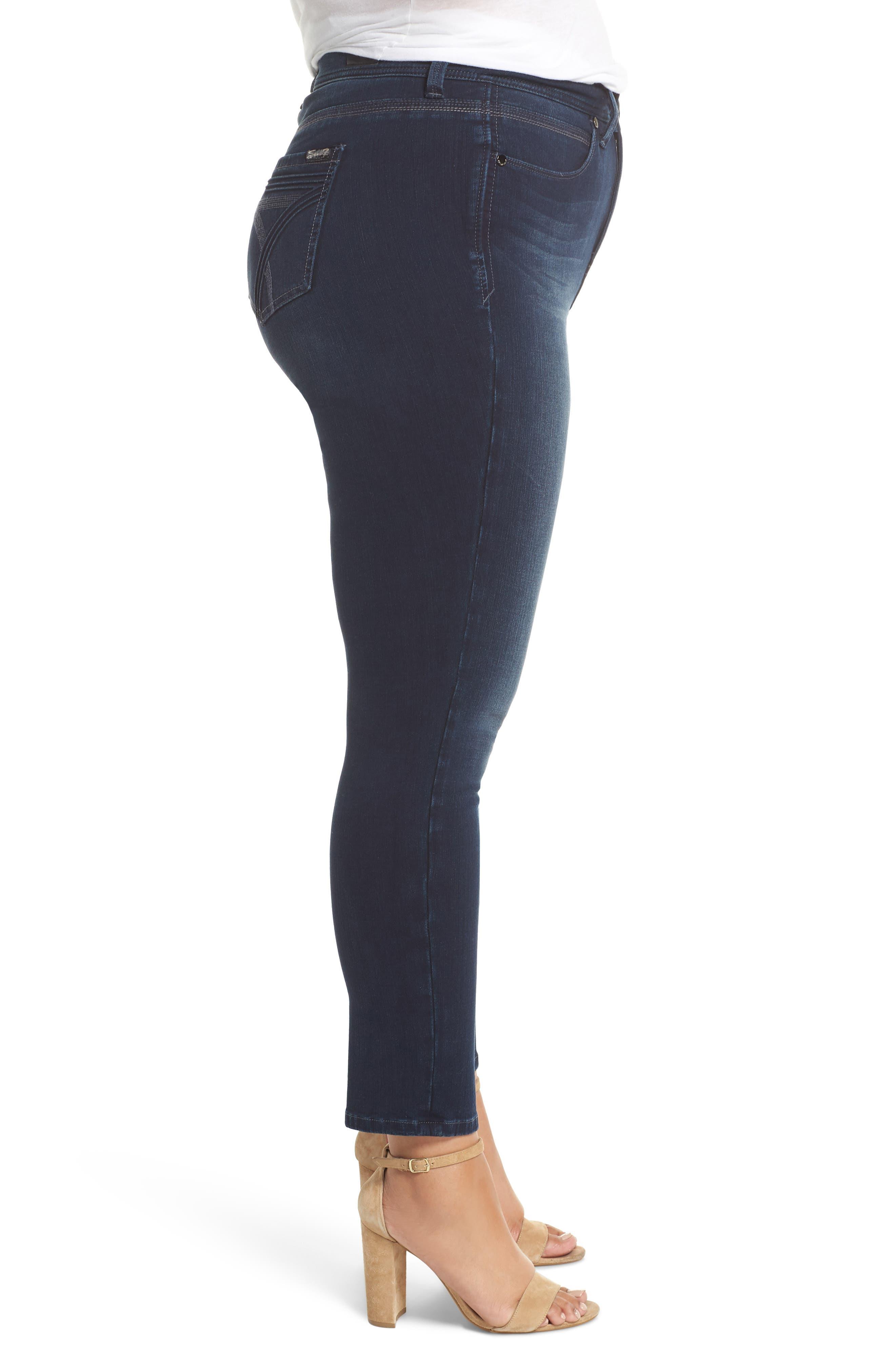 Tummyless Skinny Jeans,                             Alternate thumbnail 3, color,                             JE TAIME
