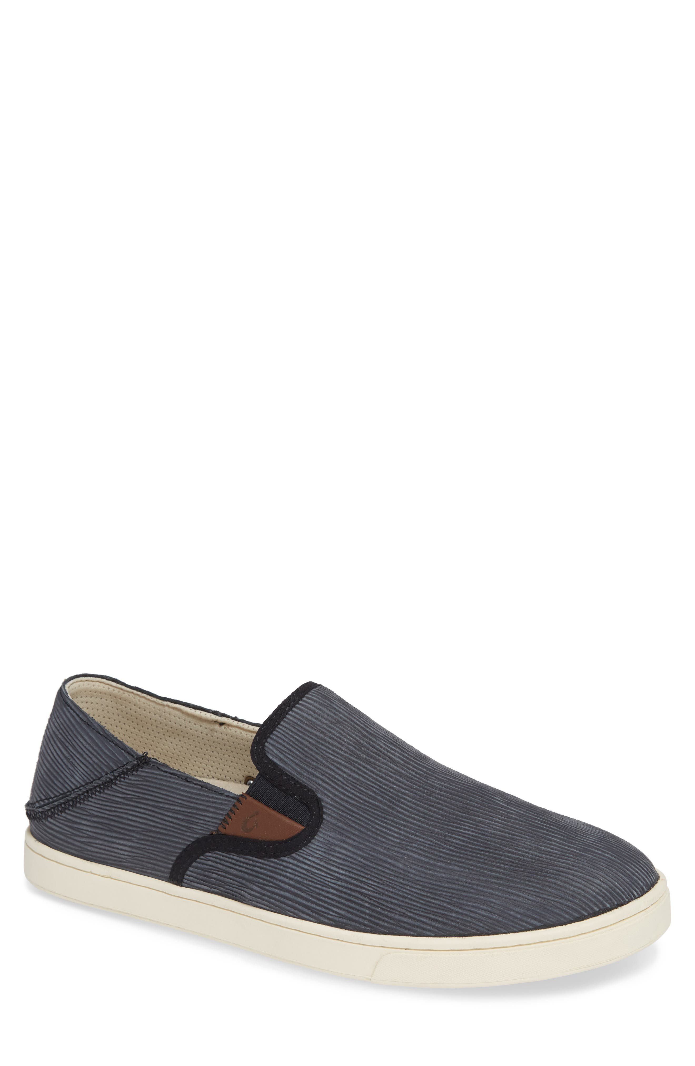 Kahu Kai Collapsible Slip-On Sneaker,                         Main,                         color, DARK SHADOW/ OFF WHITE LEATHER