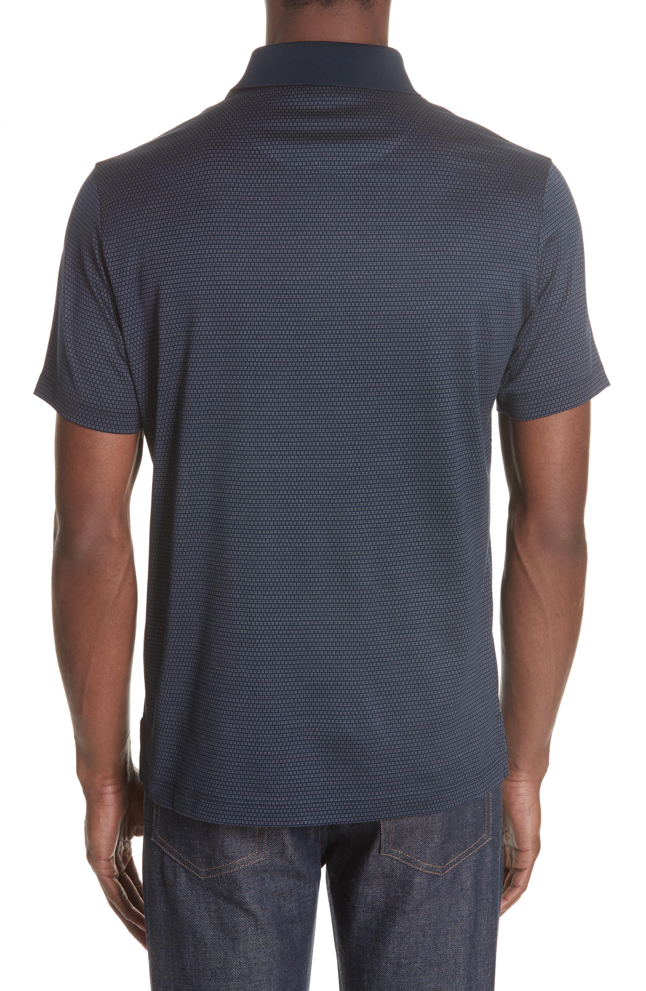 Geometric Cotton Polo Shirt,                             Alternate thumbnail 2, color,                             400