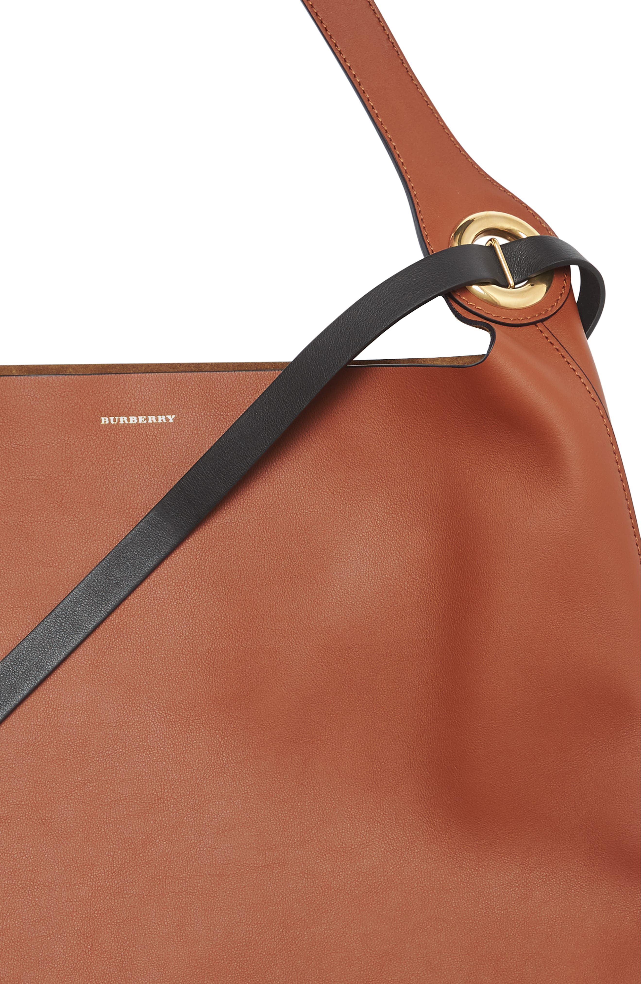 Grommet Medium Leather Hobo,                             Alternate thumbnail 4, color,                             216
