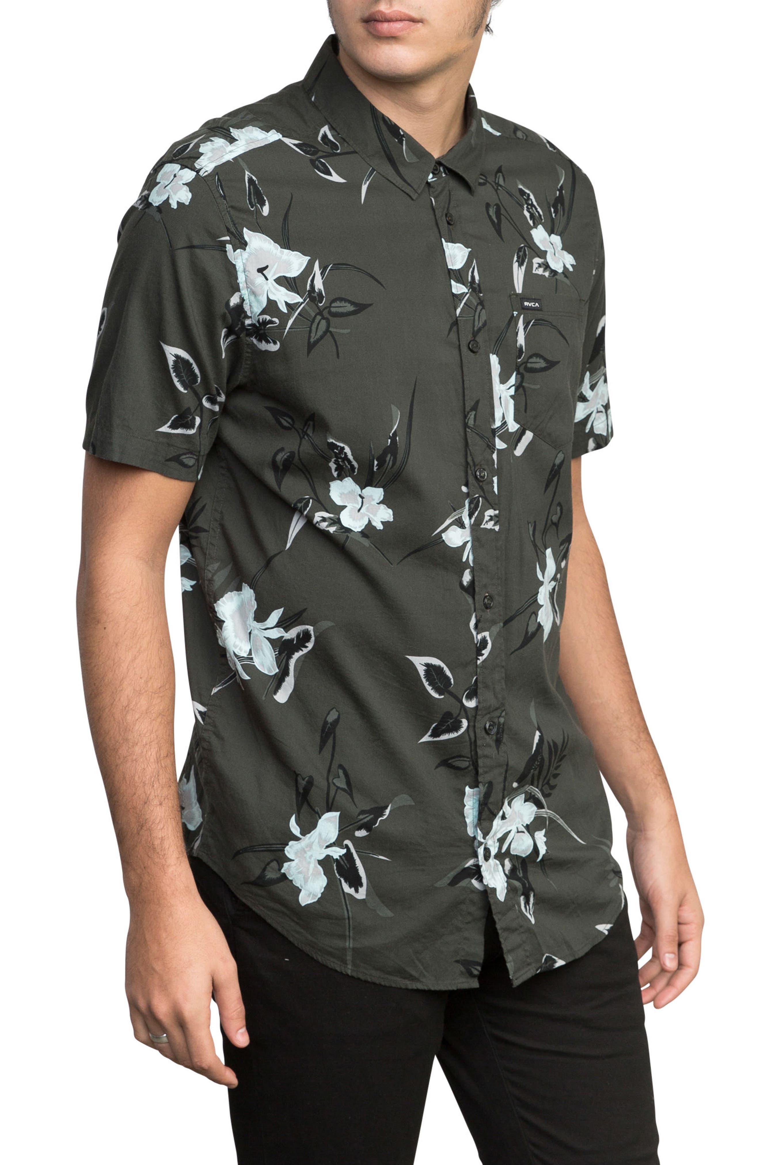 Moonflower Woven Shirt,                             Alternate thumbnail 3, color,                             008