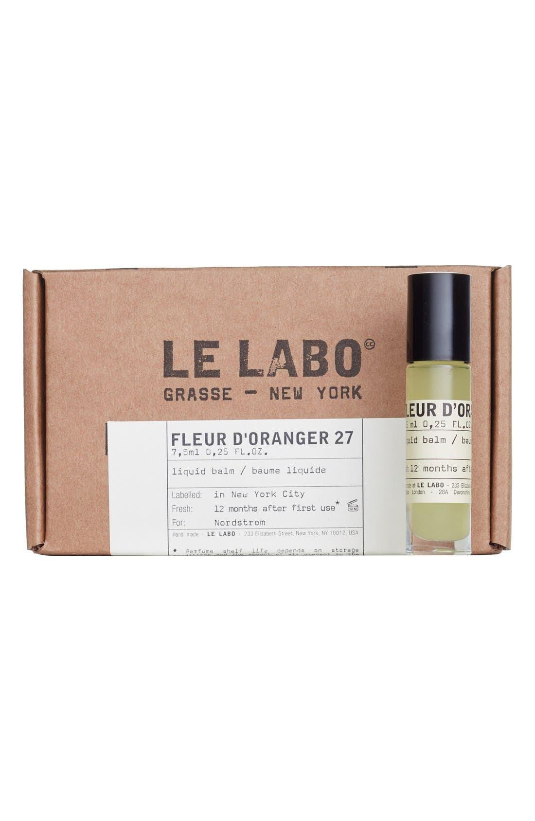 LE LABO,                             'Fleur d'Oranger 27' Liquid Balm,                             Alternate thumbnail 2, color,                             NO COLOR