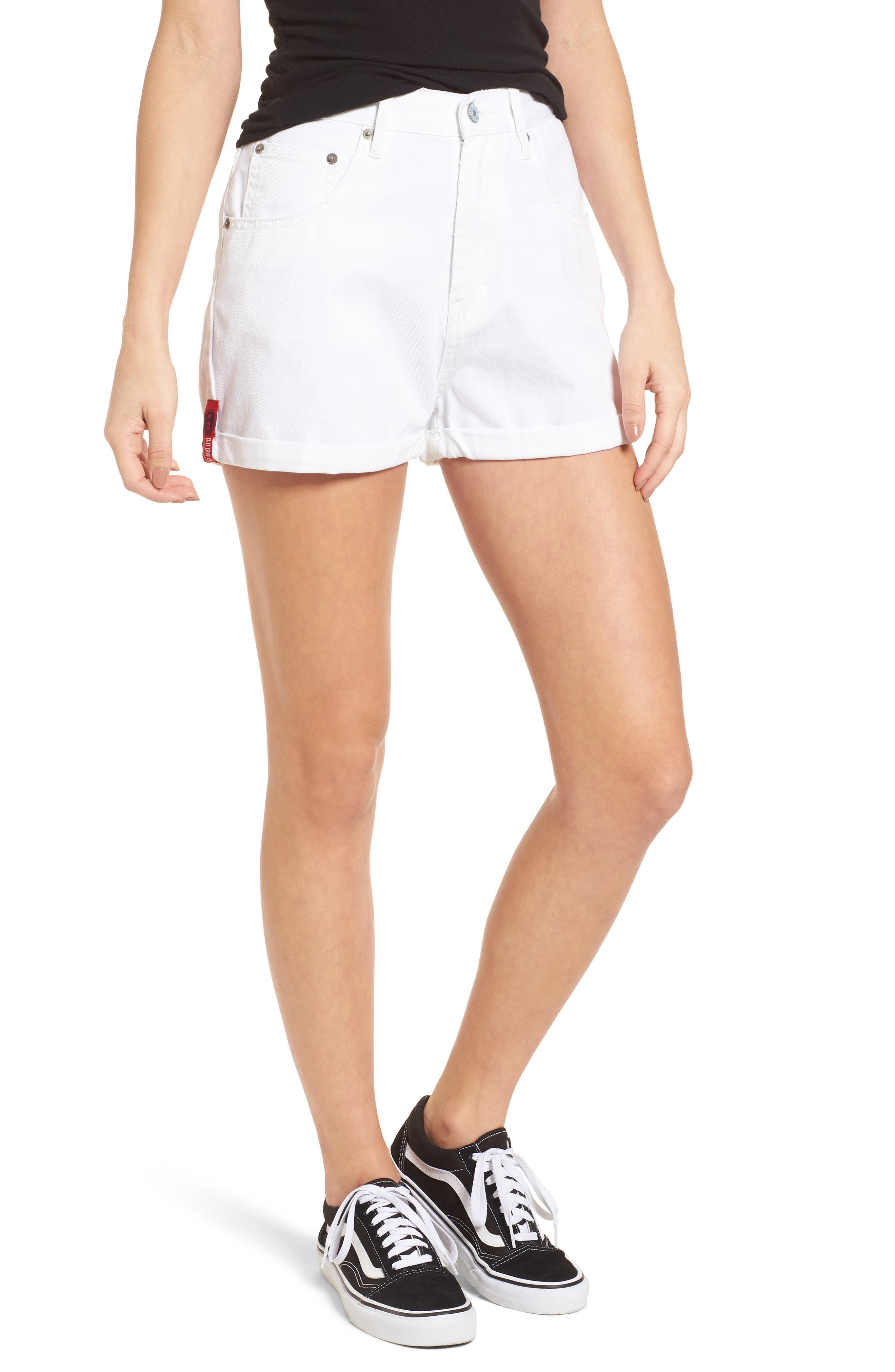 Unionbay UB Tab Denim Shorts,                             Main thumbnail 1, color,                             100