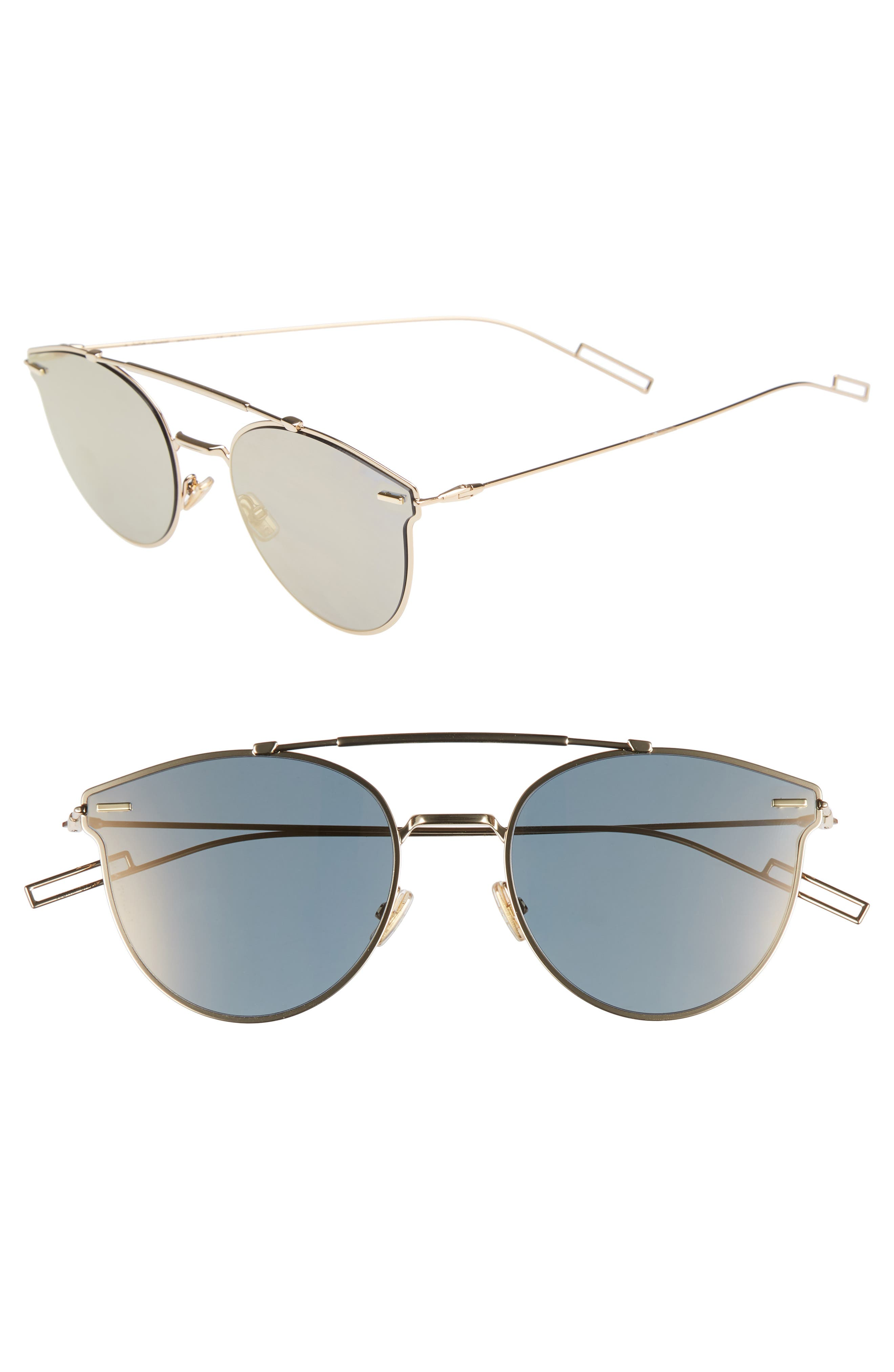 Pressure 57mm Sunglasses,                             Main thumbnail 1, color,                             GOLD