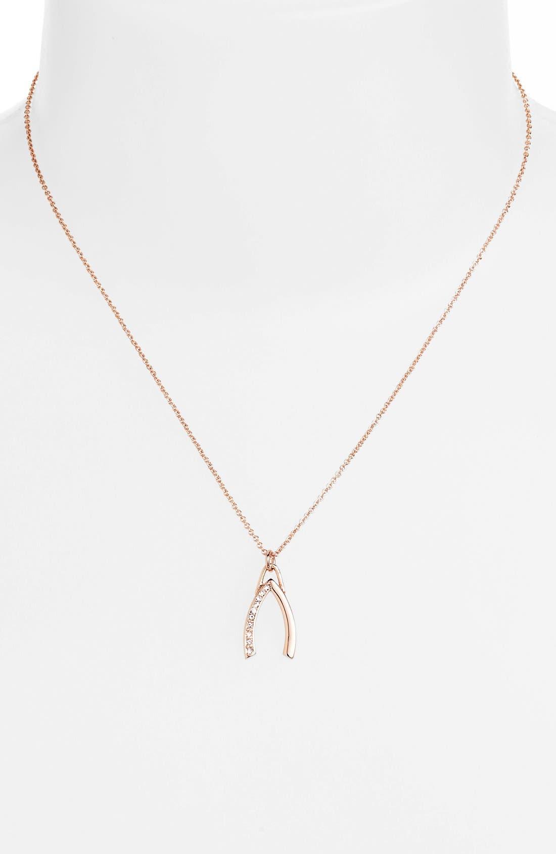 'Jewel Box' Wishbone Pendant Necklace,                             Alternate thumbnail 4, color,