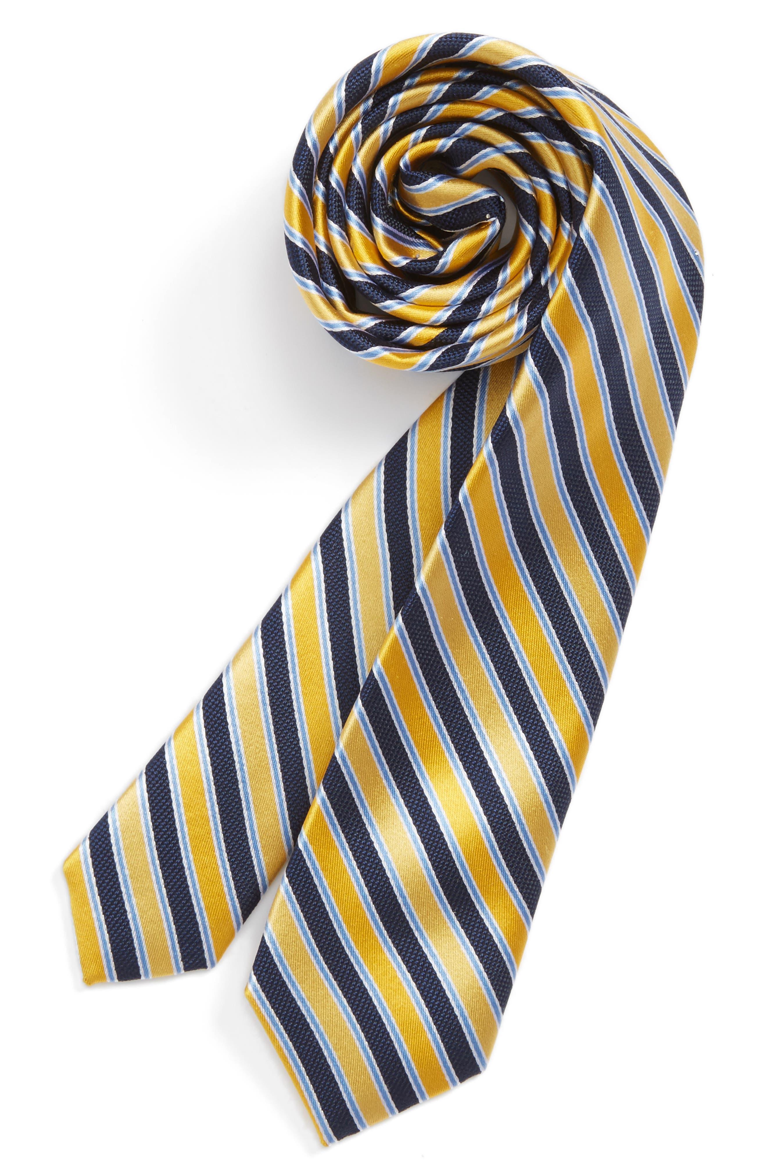Stripe Silk Tie,                             Main thumbnail 5, color,