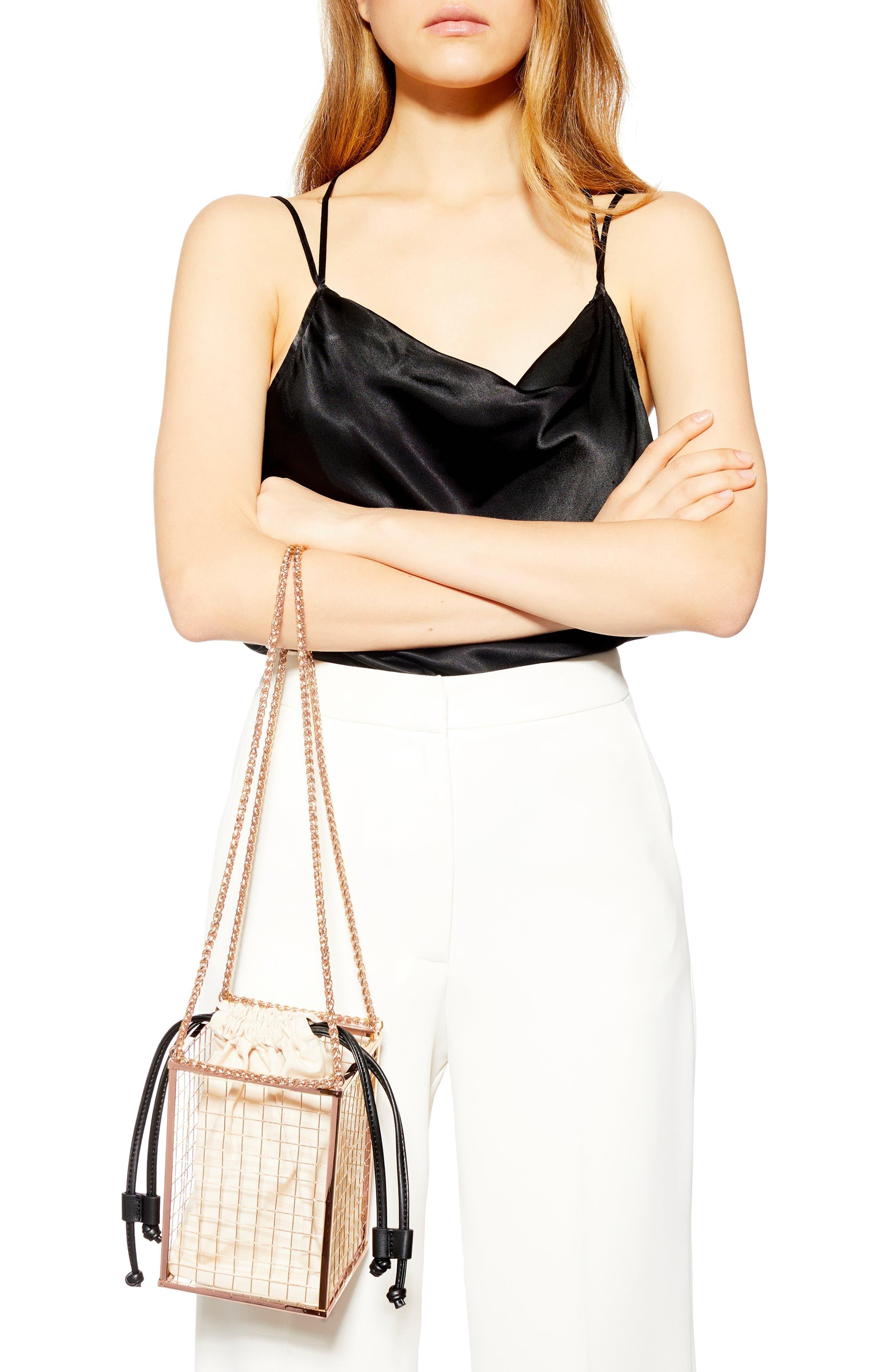 Cara Cage Shoulder Bag,                             Alternate thumbnail 2, color,                             GOLD