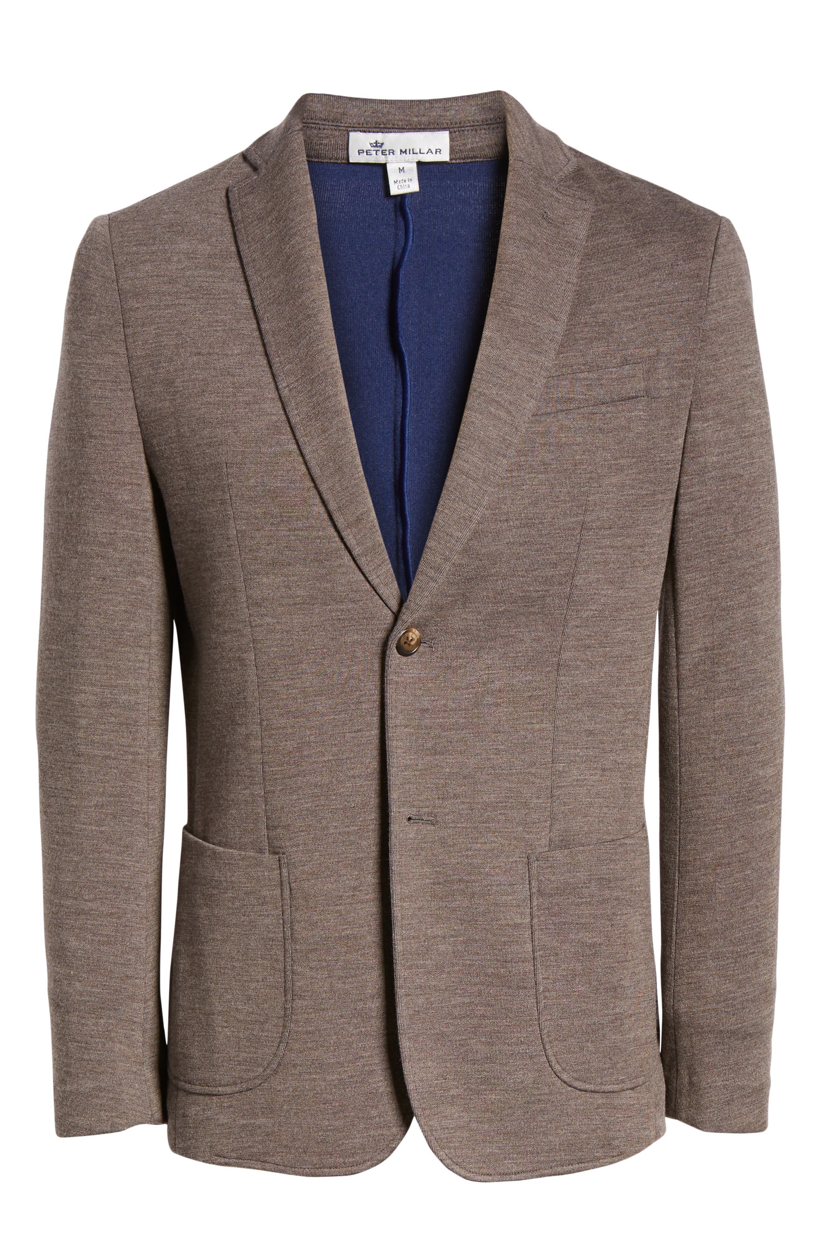 Crown Comfort Knit Blazer,                             Alternate thumbnail 5, color,                             COBBLESTONE