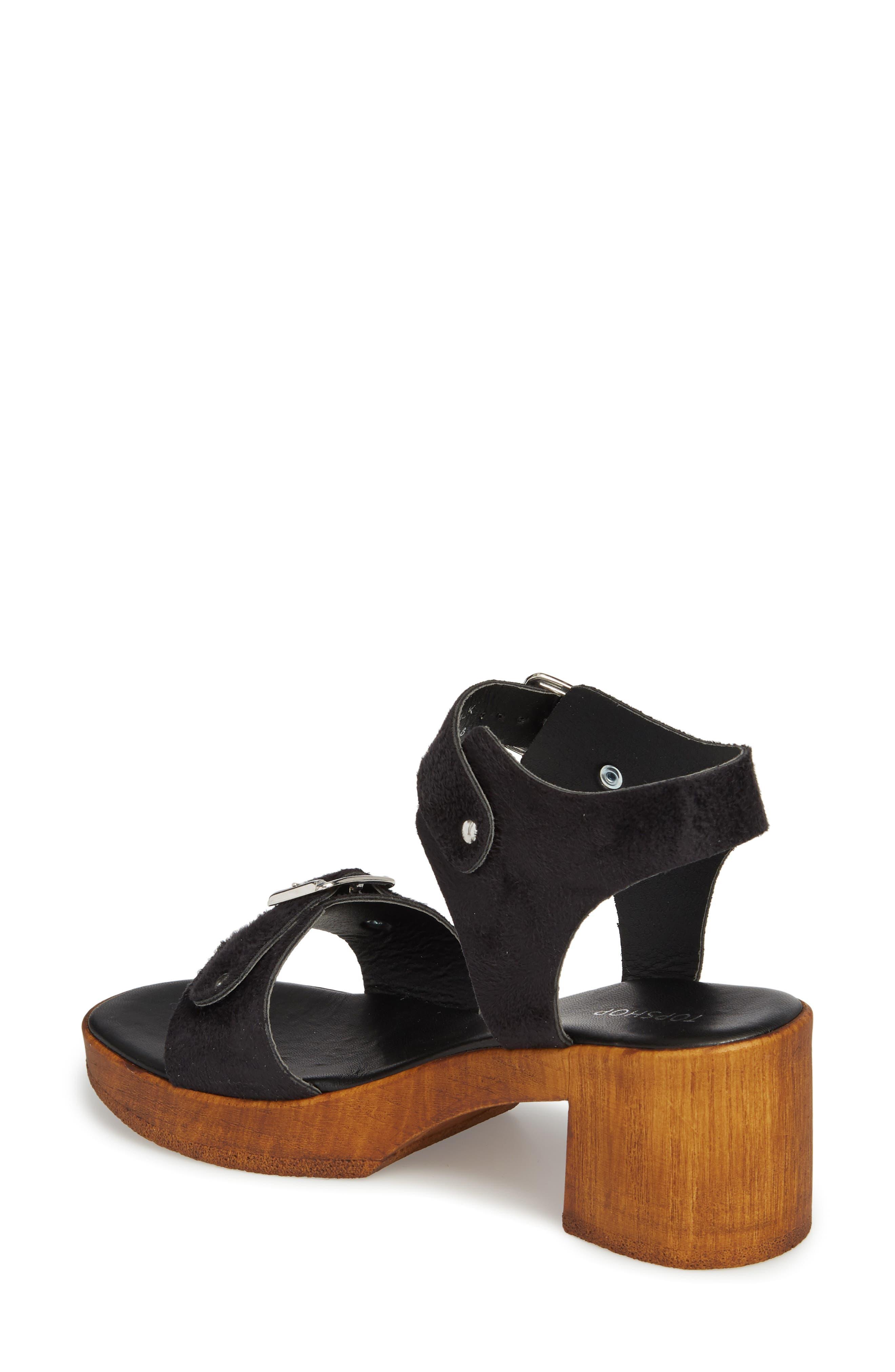 Buckle Platform Sandal,                             Alternate thumbnail 2, color,                             BLACK MULTI