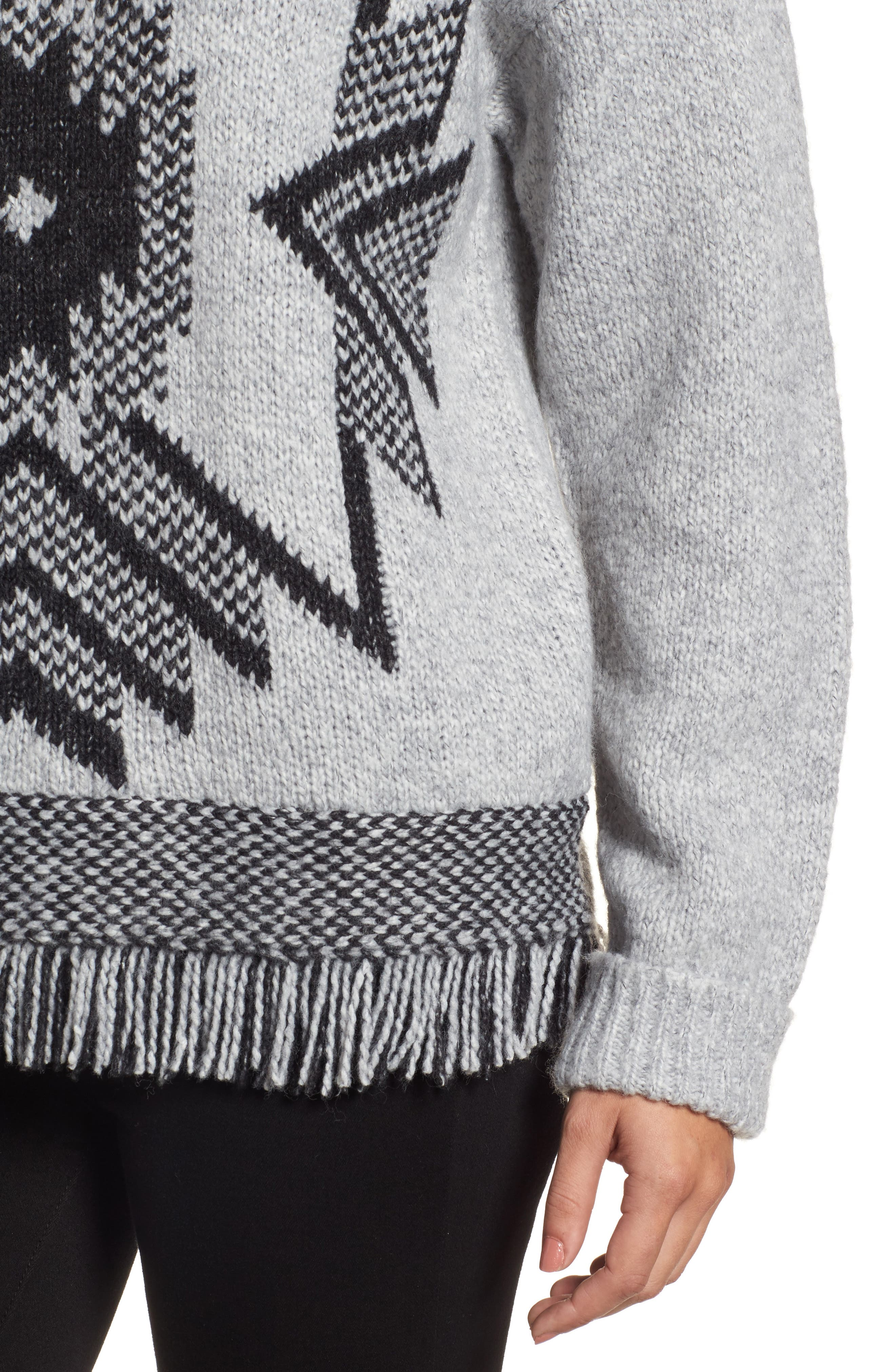 Fringe Sweater,                             Alternate thumbnail 14, color,