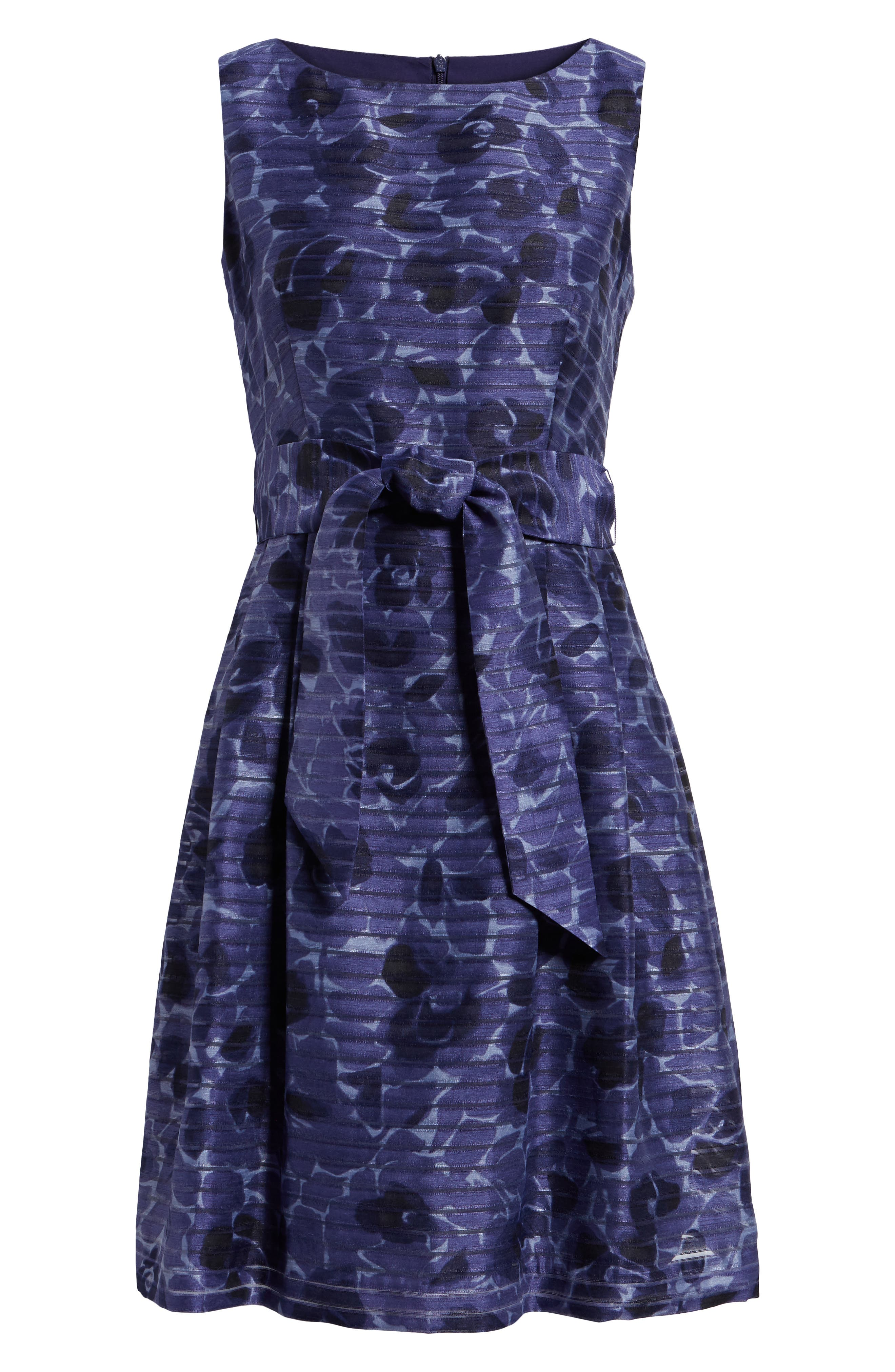 Rosewater Shadow Fit & Flare Dress,                             Alternate thumbnail 7, color,                             410