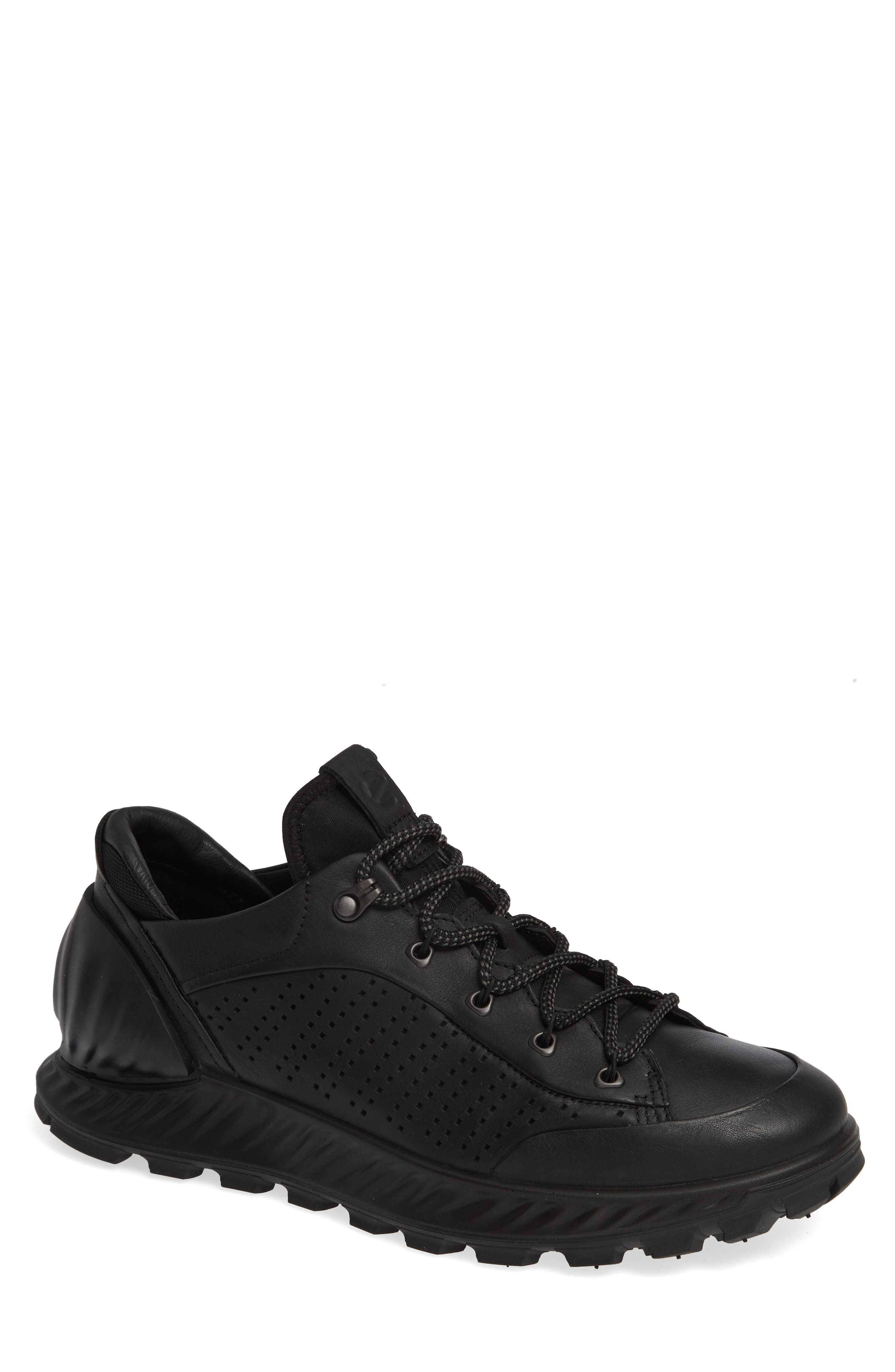 Exostrike High Top Sneaker,                             Main thumbnail 1, color,                             BLACK LEATHER
