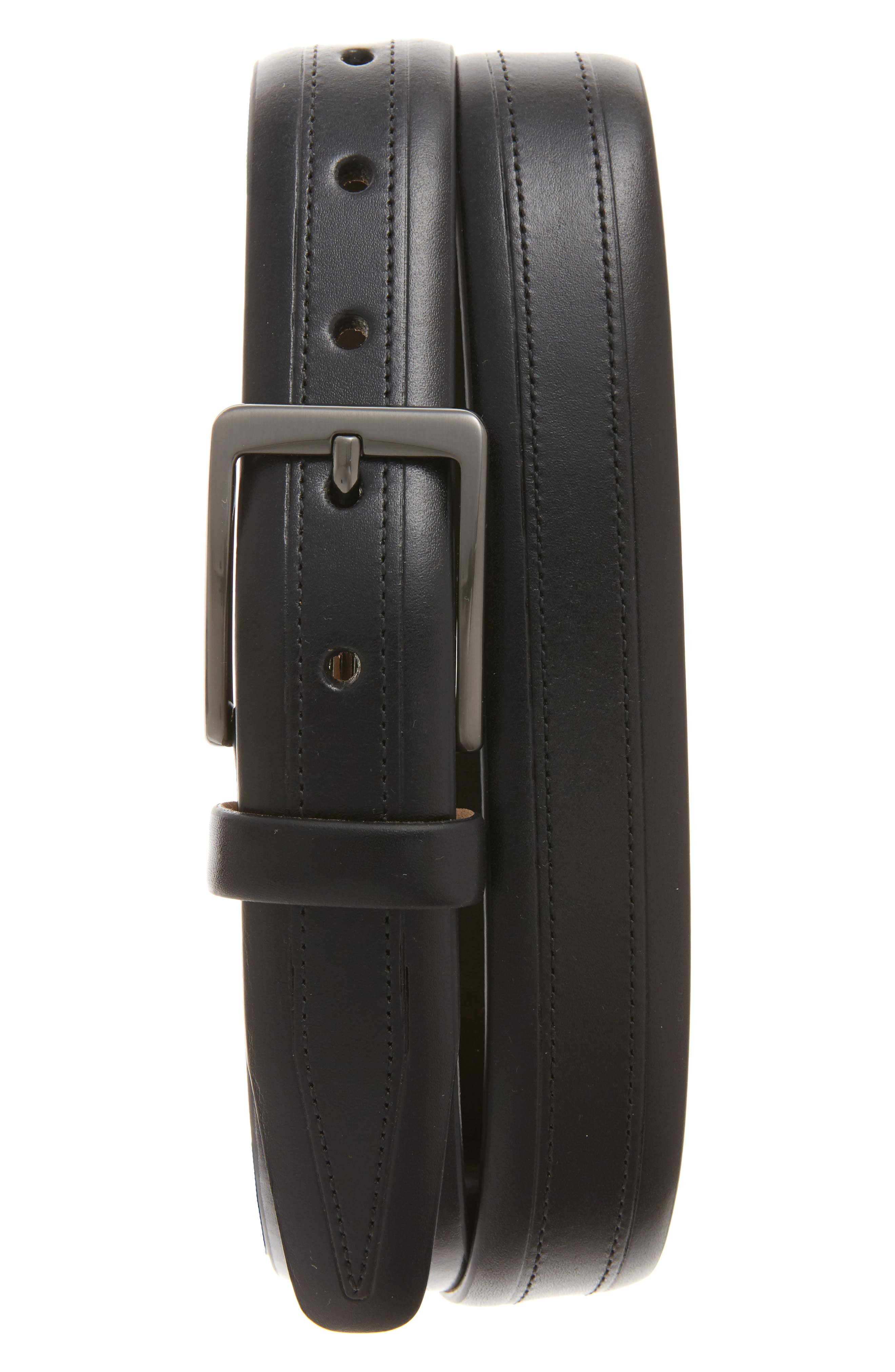 Cortina Leather Belt,                         Main,                         color, 001