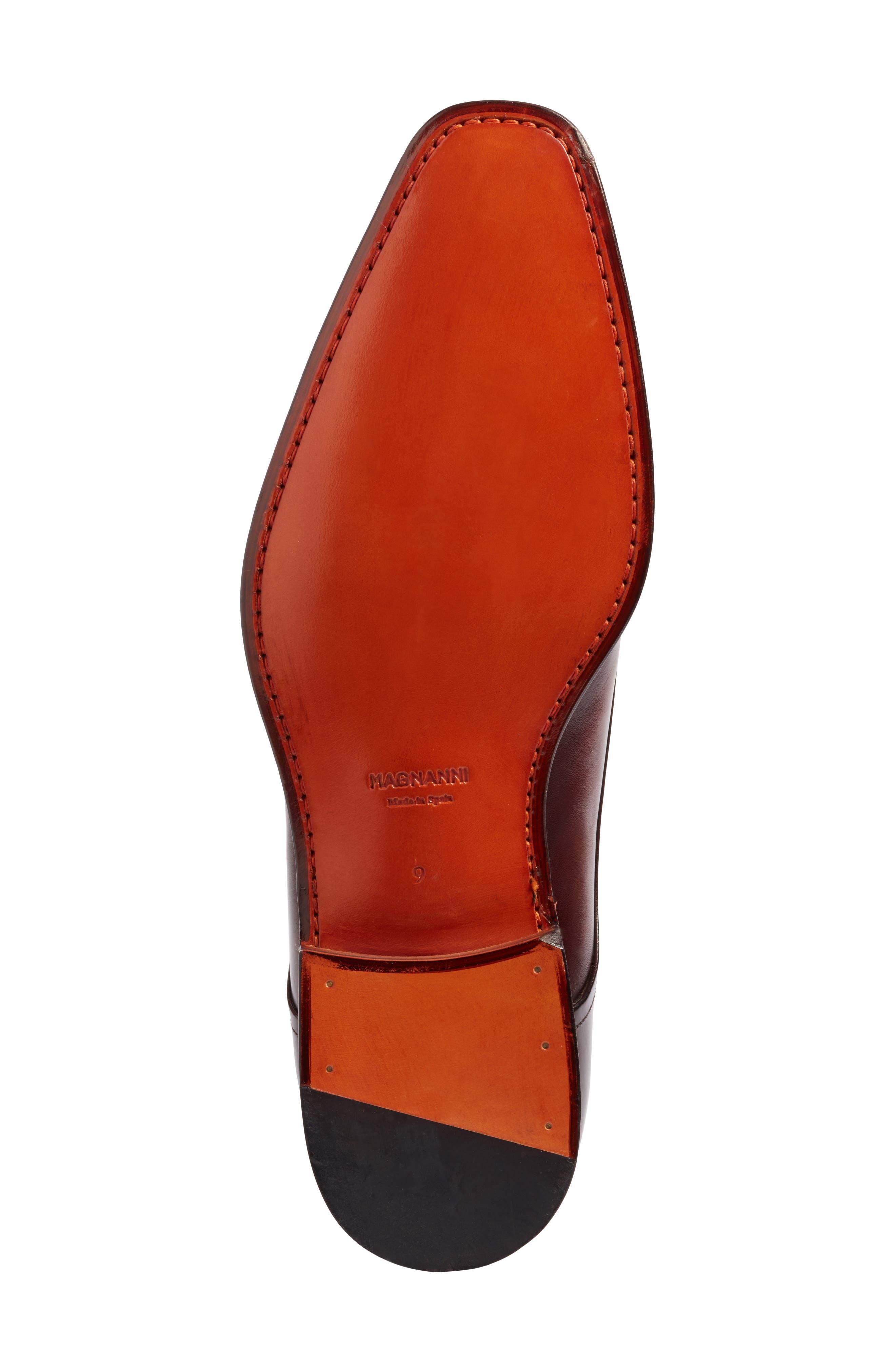 Silvio Double Monk Strap Shoe,                             Alternate thumbnail 6, color,                             TOBACCO LEATHER