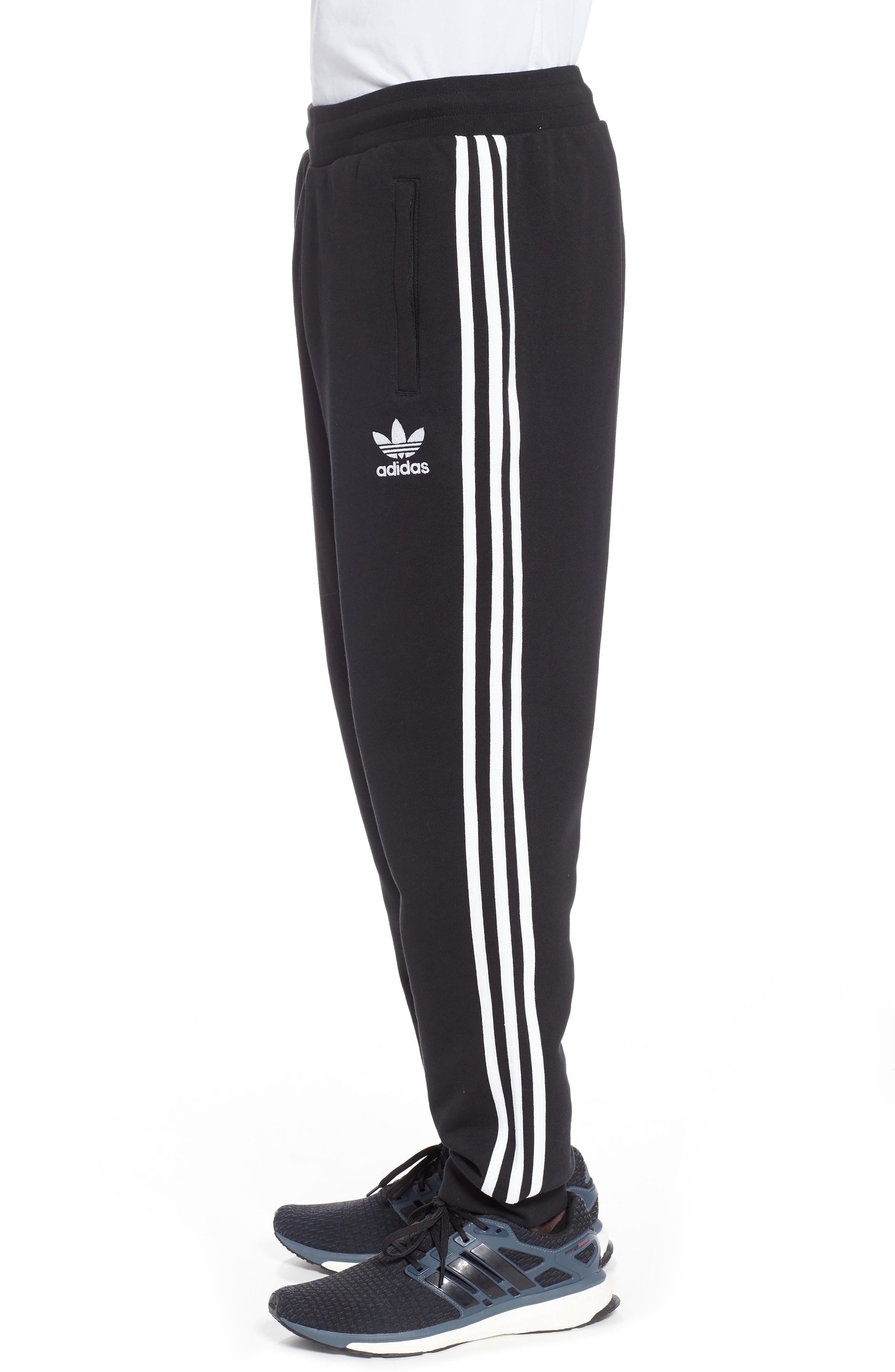 Adicolor Track Pants,                             Alternate thumbnail 3, color,                             BLACK