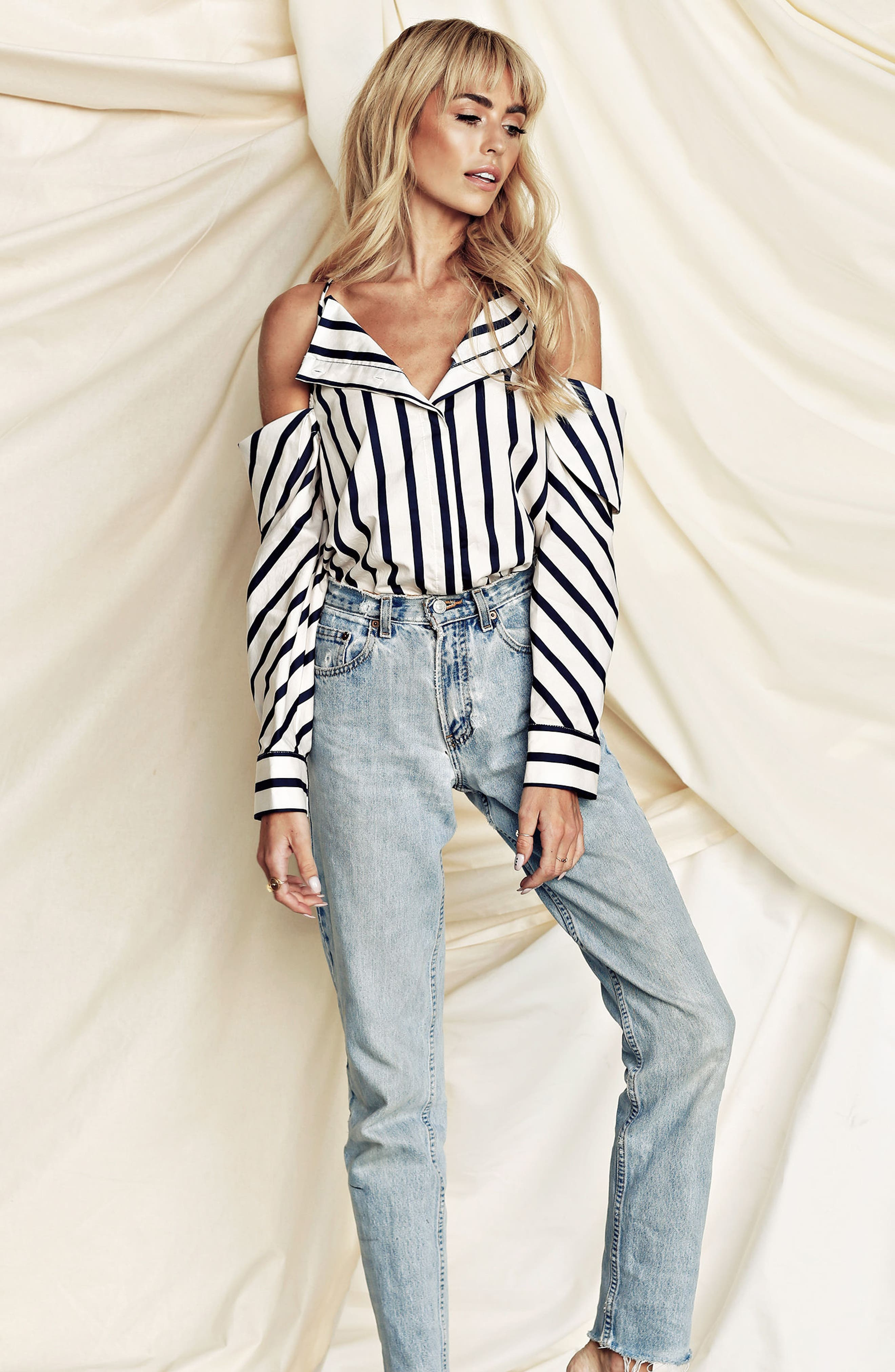 The Can't Be Tamed Cold Shoulder Top,                             Alternate thumbnail 7, color,