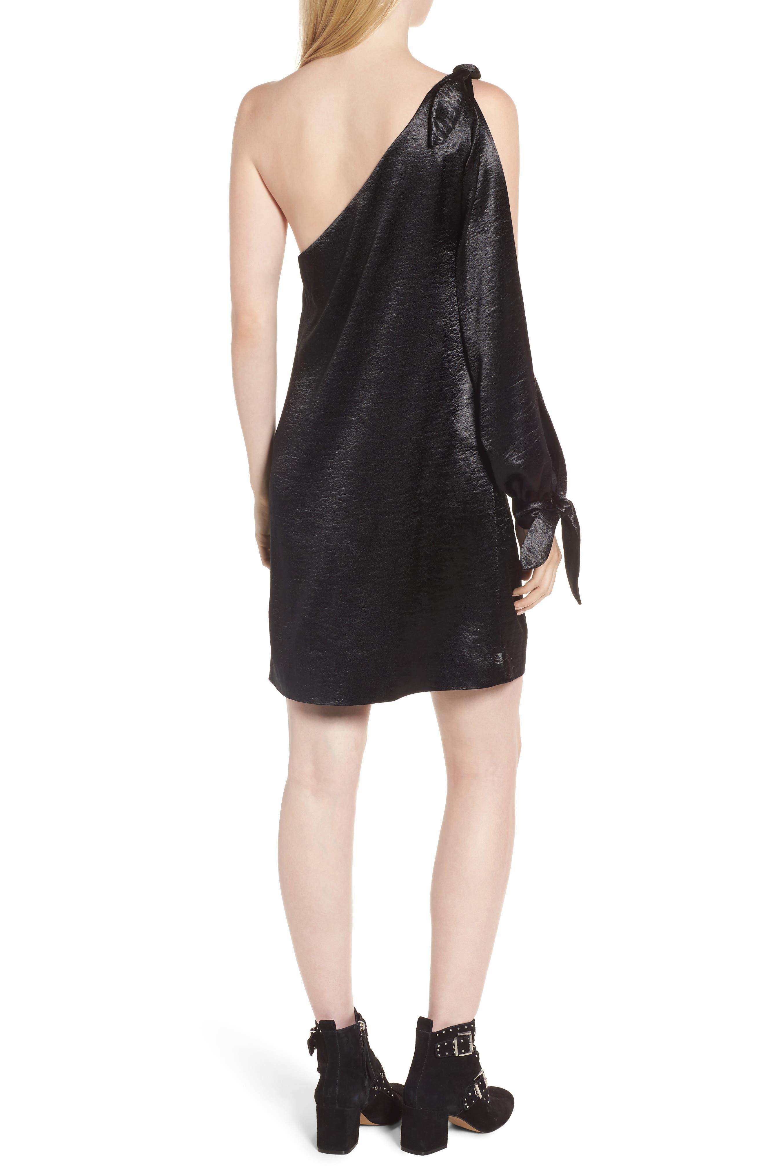 Nash One-Shoulder Shift Dress,                             Alternate thumbnail 2, color,                             001