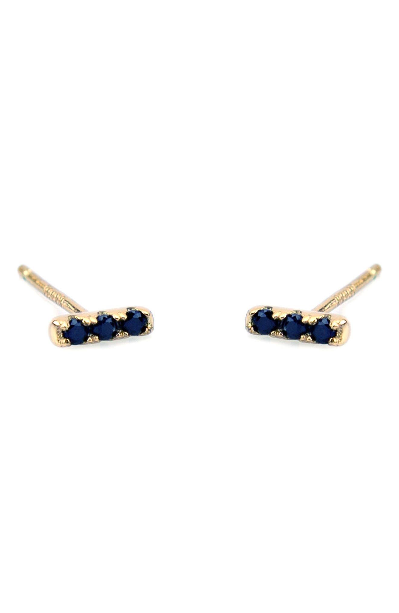 Pavé Dash Stud Earrings,                             Main thumbnail 1, color,                             001