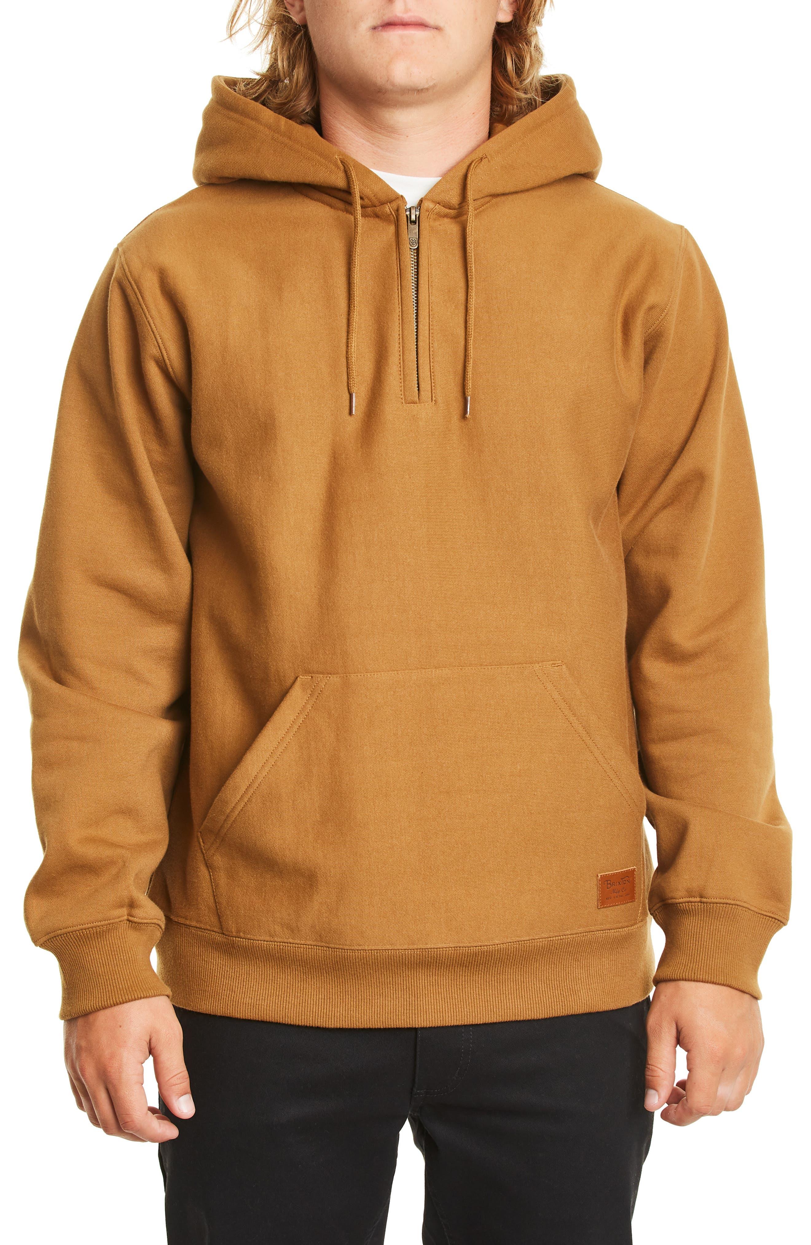 Longman Fleece Hoodie,                         Main,                         color, WASHED COPPER