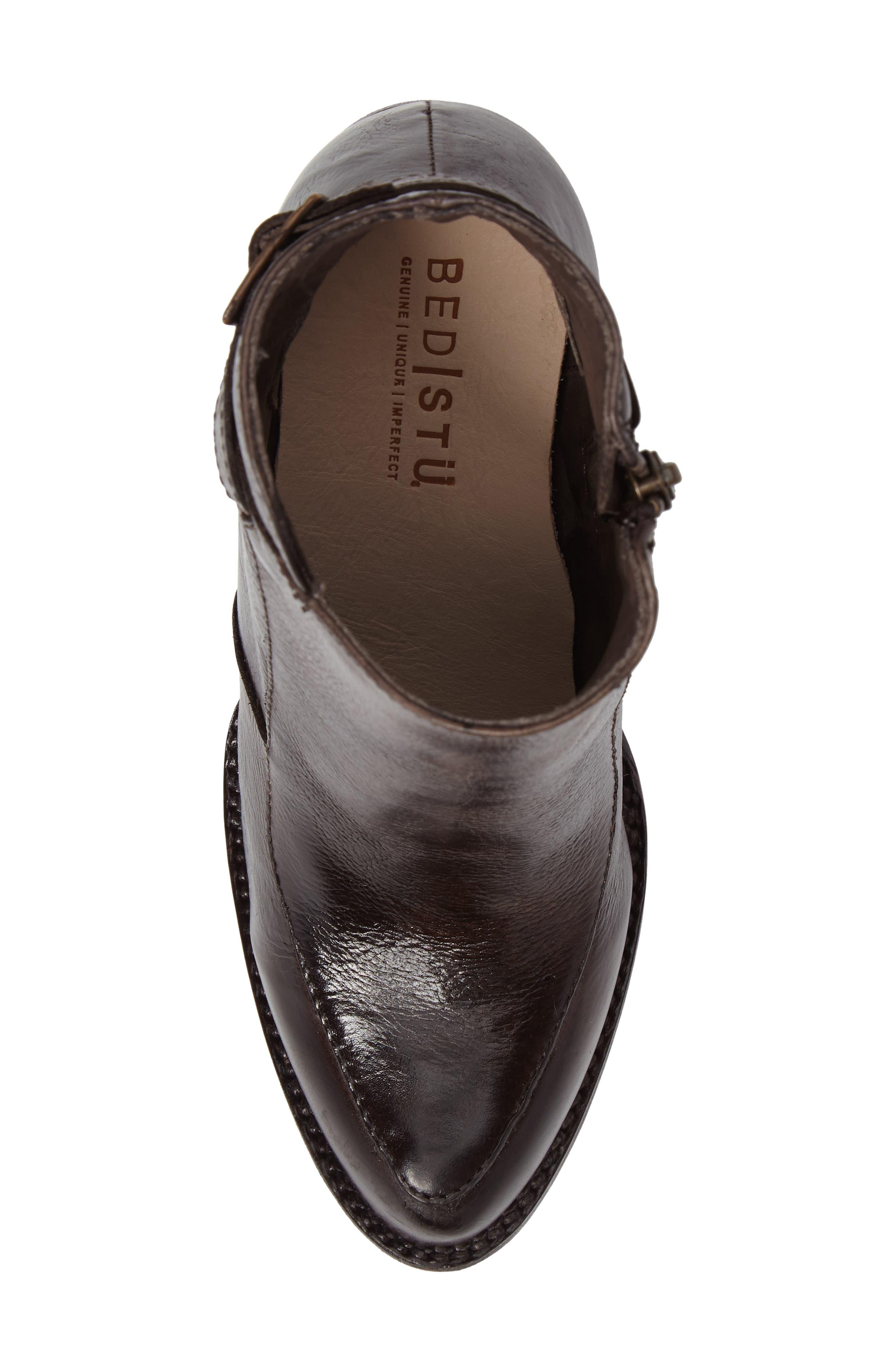 'Isla' Stacked Heel Boot,                             Alternate thumbnail 5, color,                             201