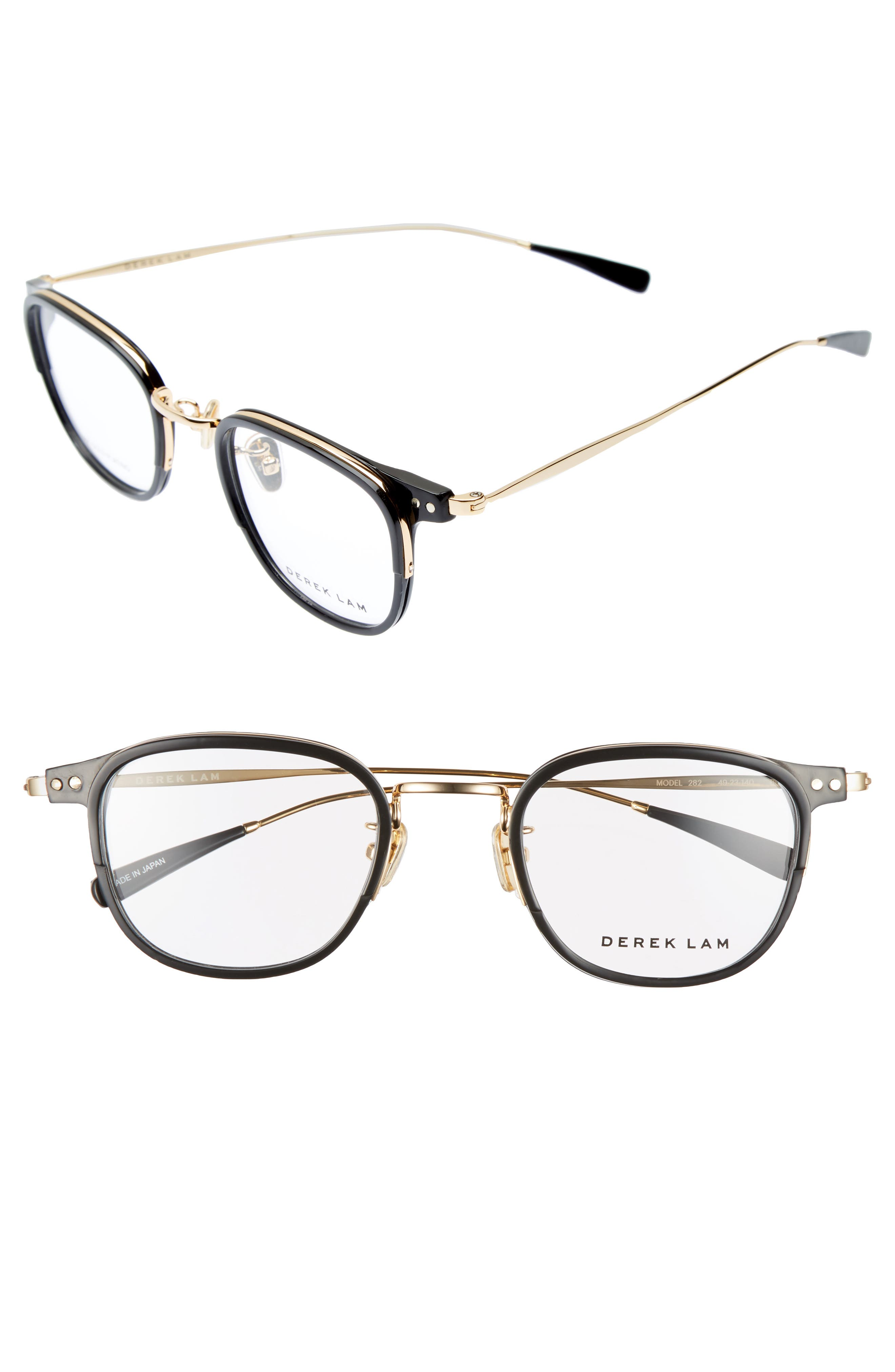 49mm Optical Glasses,                         Main,                         color, BLACK