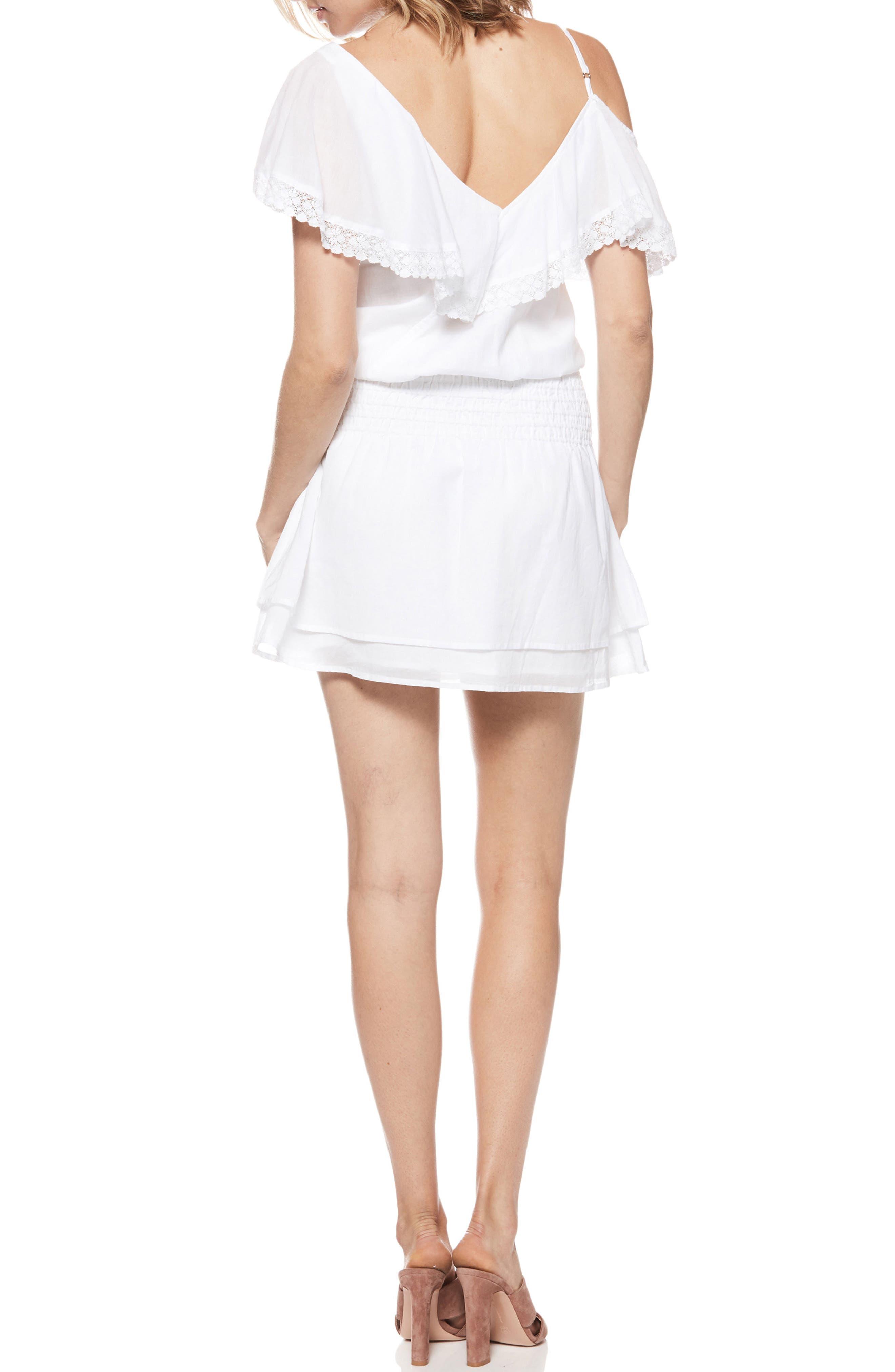 Cecelia Cold Shoulder Minidress,                             Alternate thumbnail 2, color,