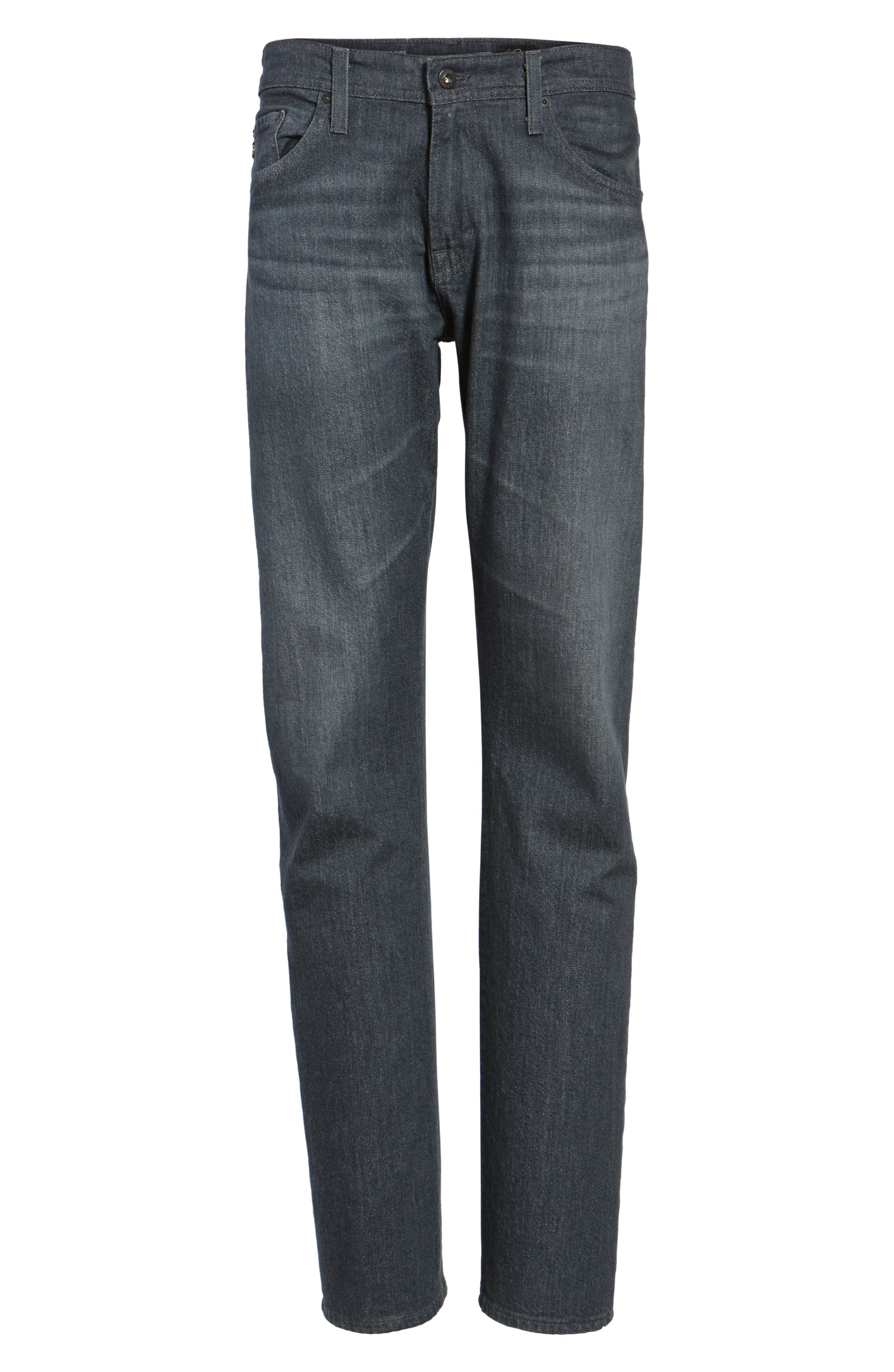 Ives Straight Fit Jeans,                             Alternate thumbnail 6, color,                             015
