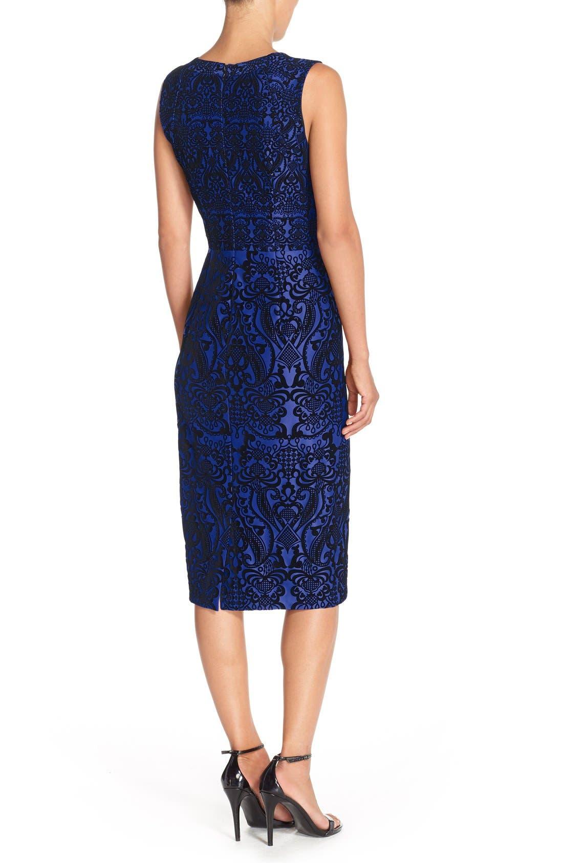 Flecked Scuba Sheath Dress,                             Alternate thumbnail 4, color,