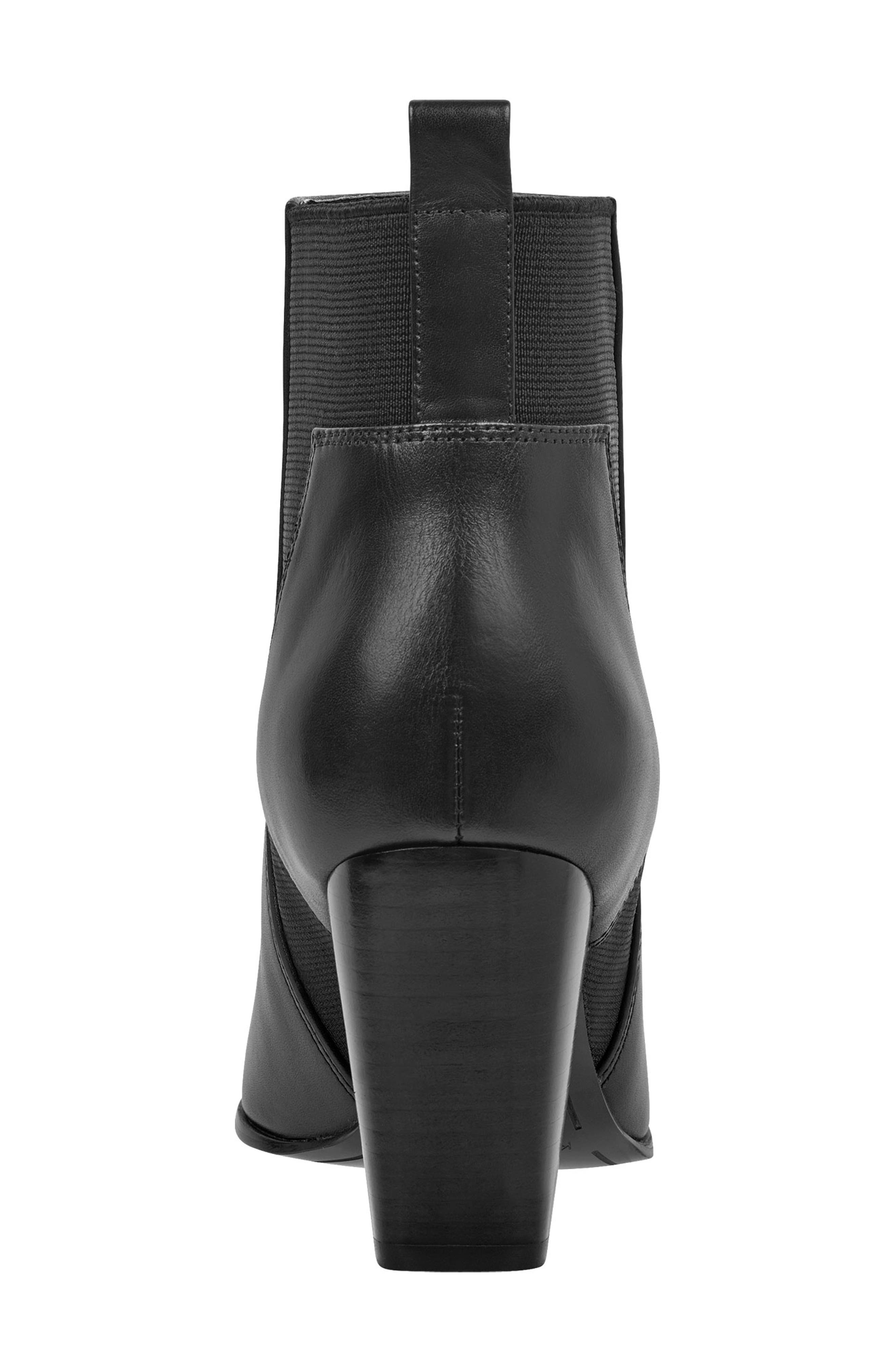 Pointy Toe Chelsea Bootie,                             Alternate thumbnail 7, color,                             001