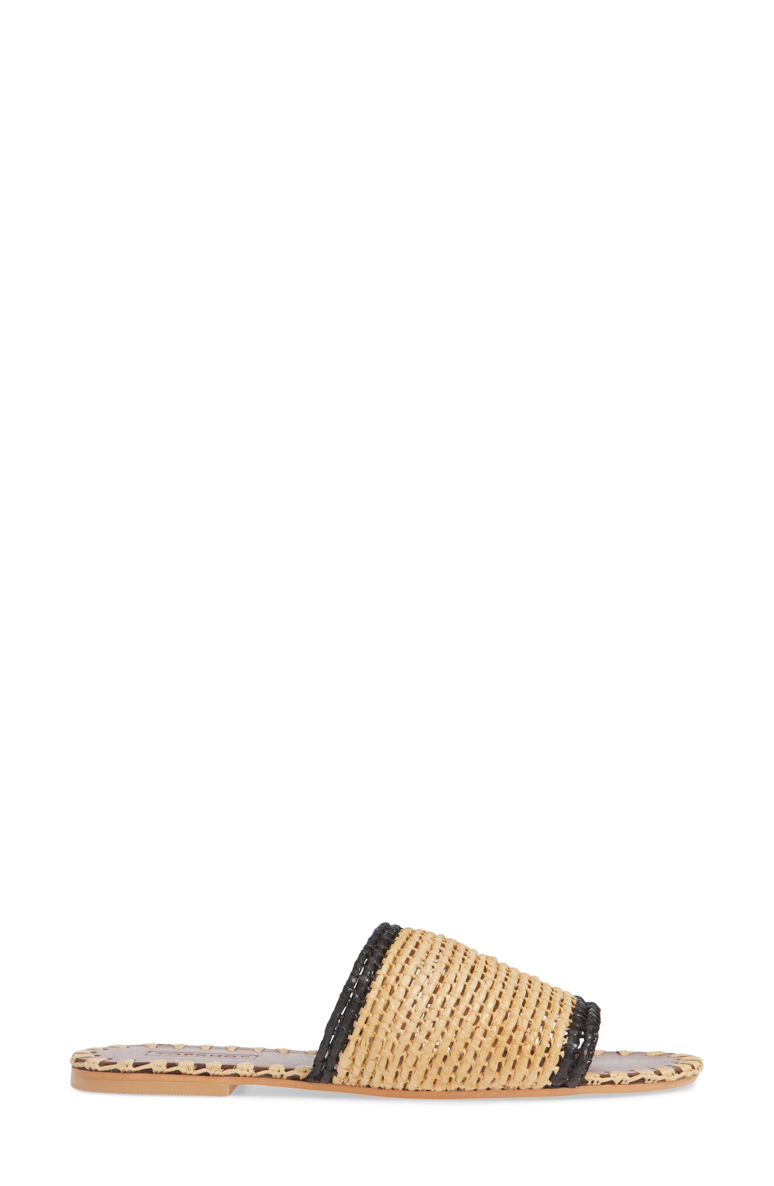 Fresh Woven Slide Sandal,                             Alternate thumbnail 3, color,                             NUDE MULTI
