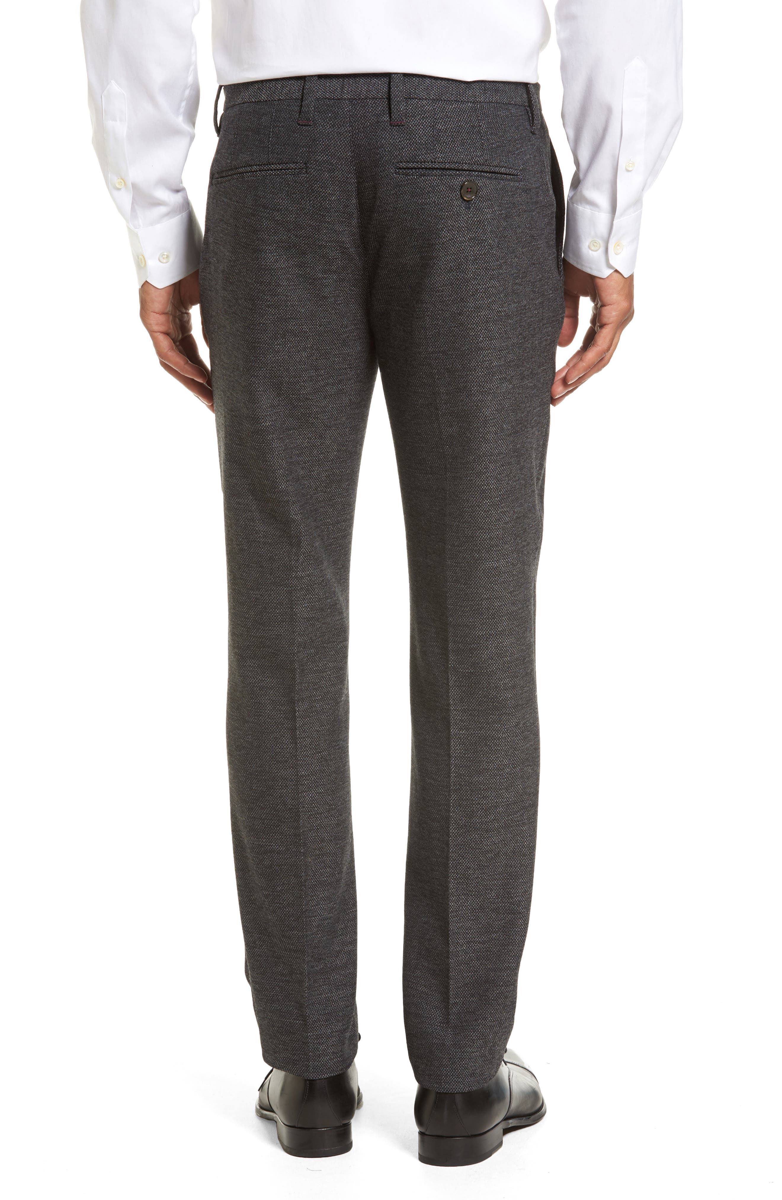 Porttro Modern Slim Fit Trousers,                             Alternate thumbnail 3, color,                             010