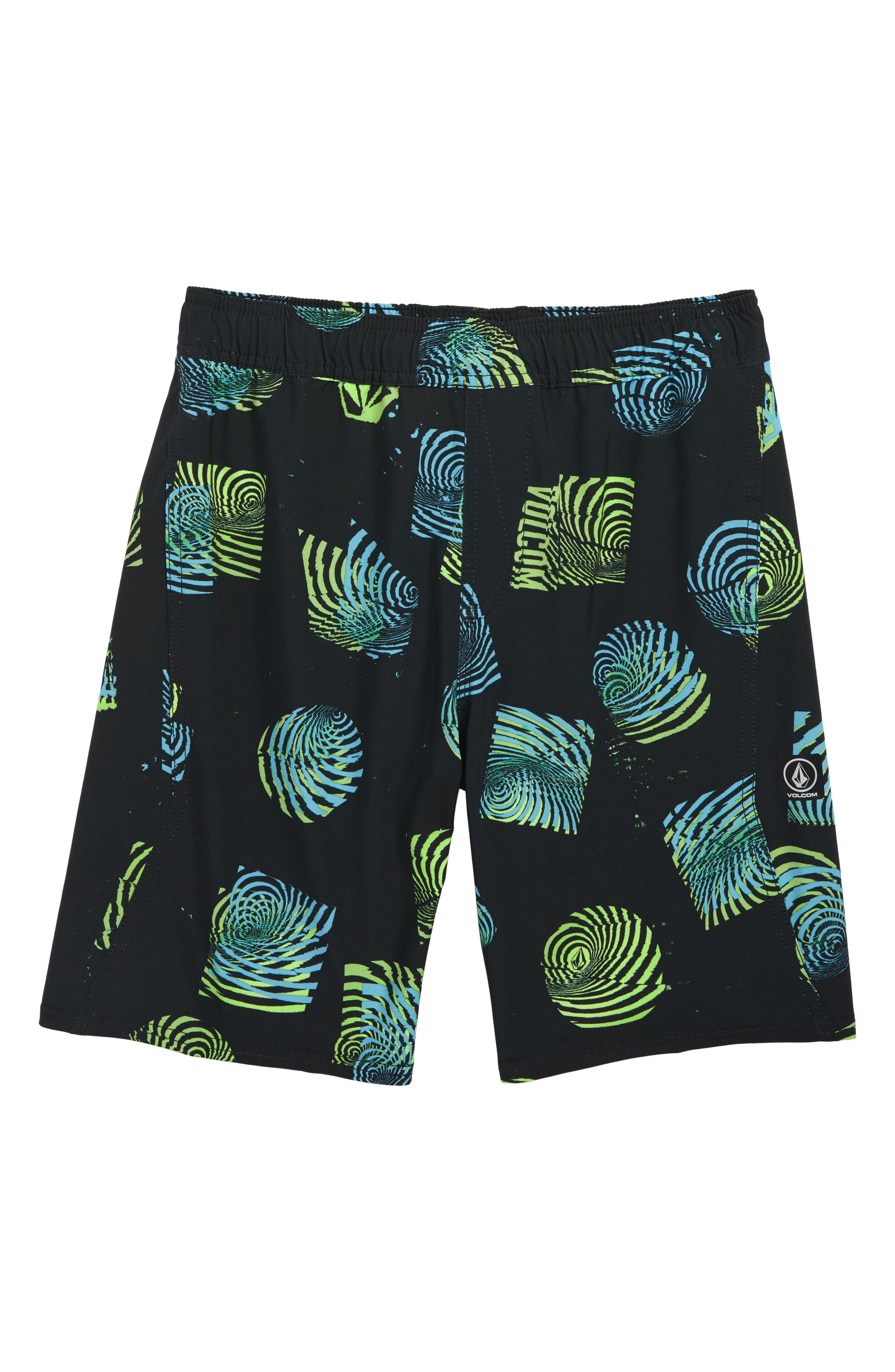 VOLCOM Nothing More Volley Shorts, Main, color, 001
